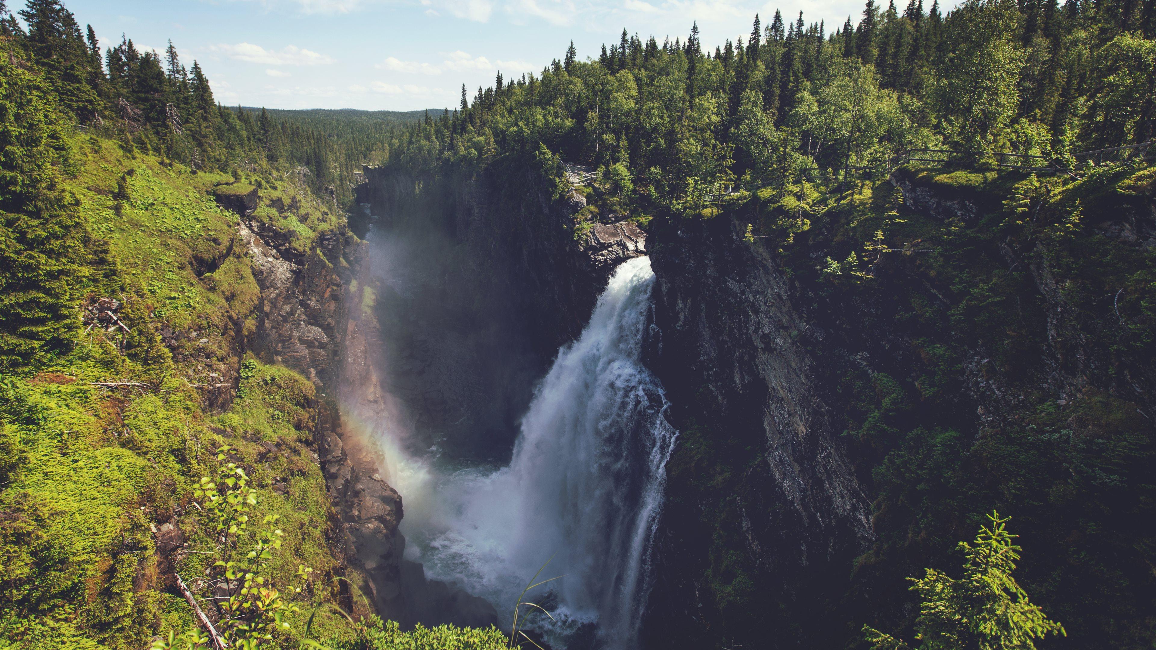 Download 3840x2160 Wallpaper Big Natural Waterfall, 4 K, Uhd
