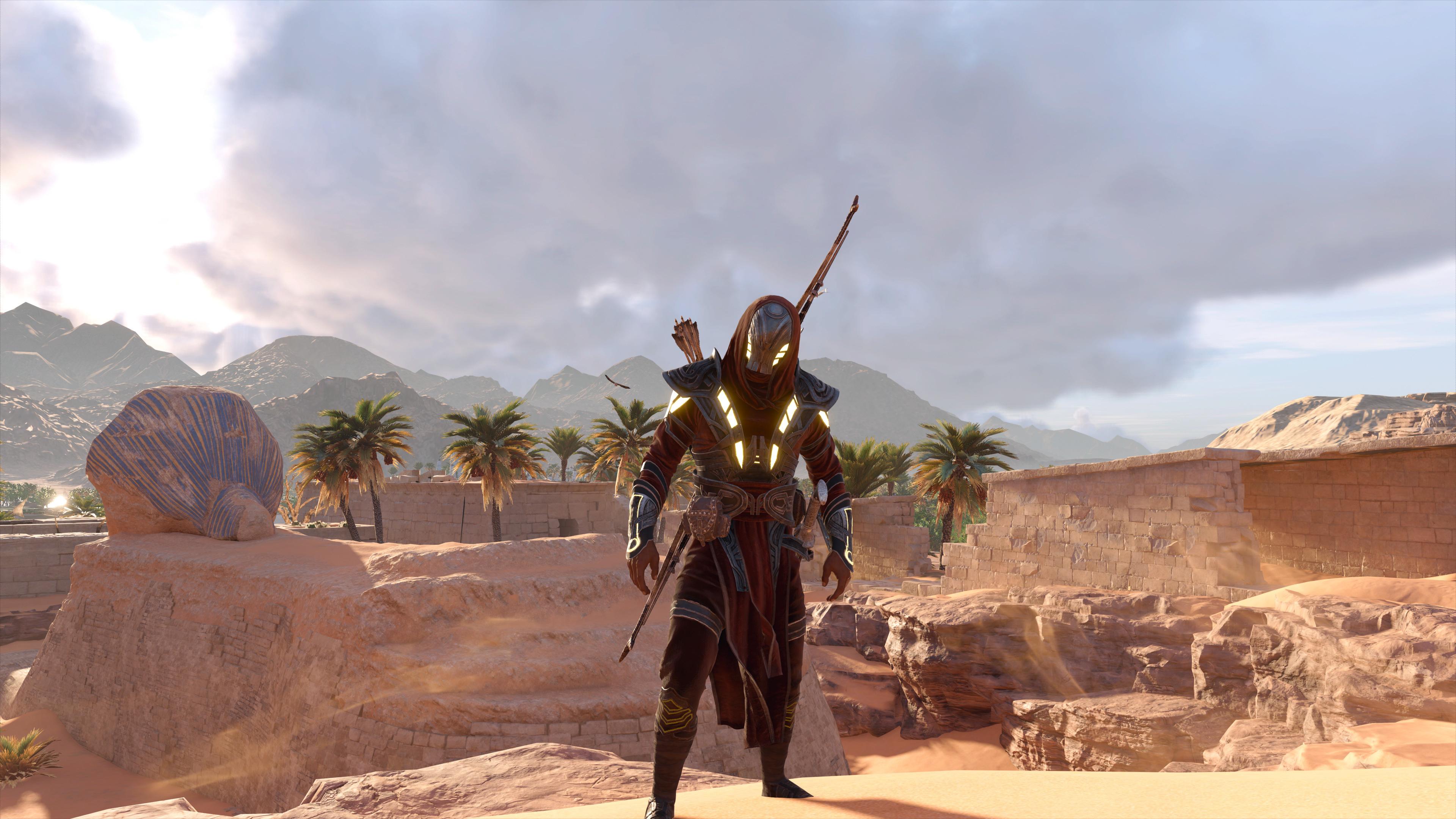 Desktop Wallpaper Assassin S Creed Origins Desert Video Game 4k