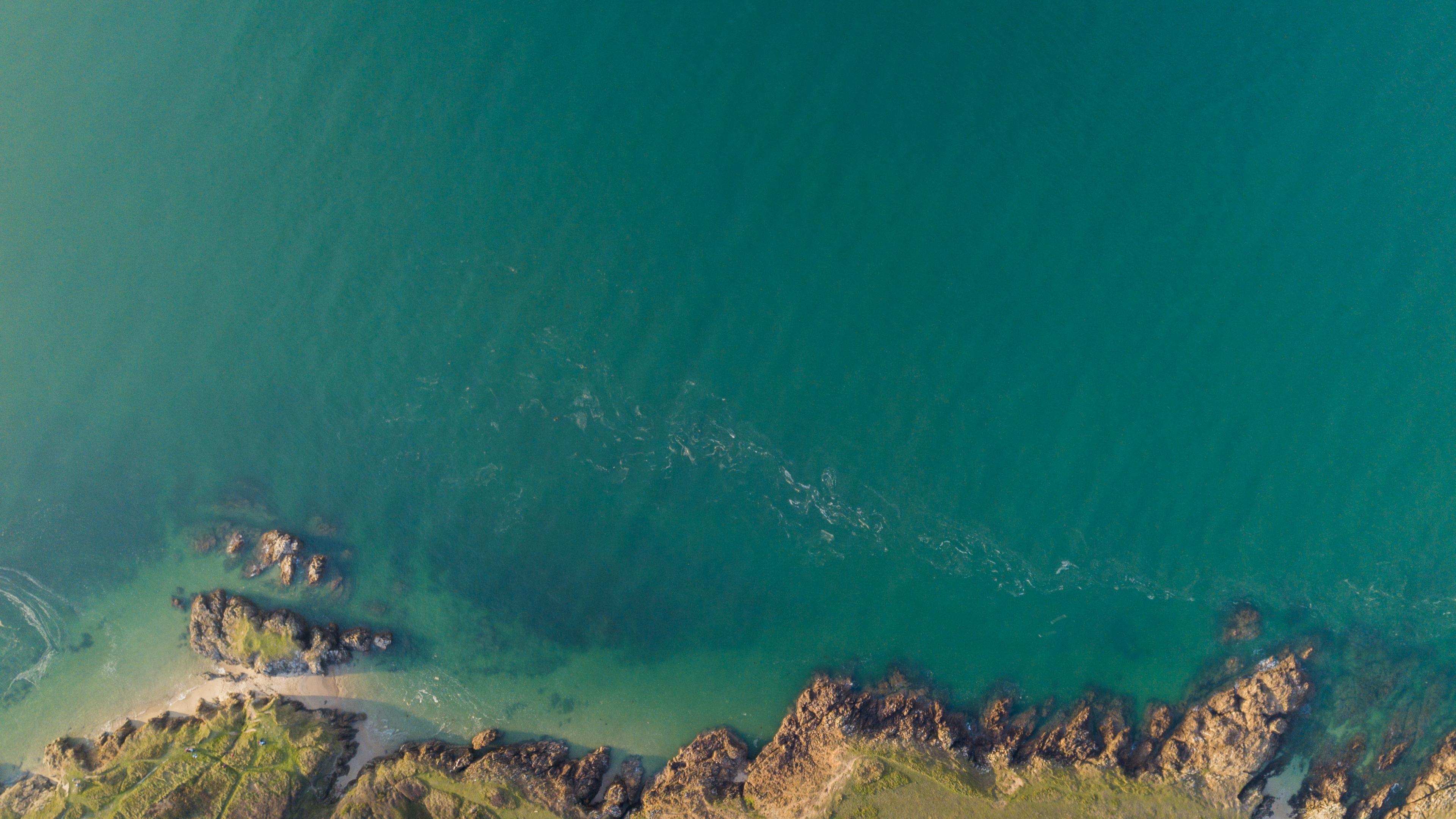Download 3840x2160 Wallpaper Coast, Aerial View, Sea, 4k ...