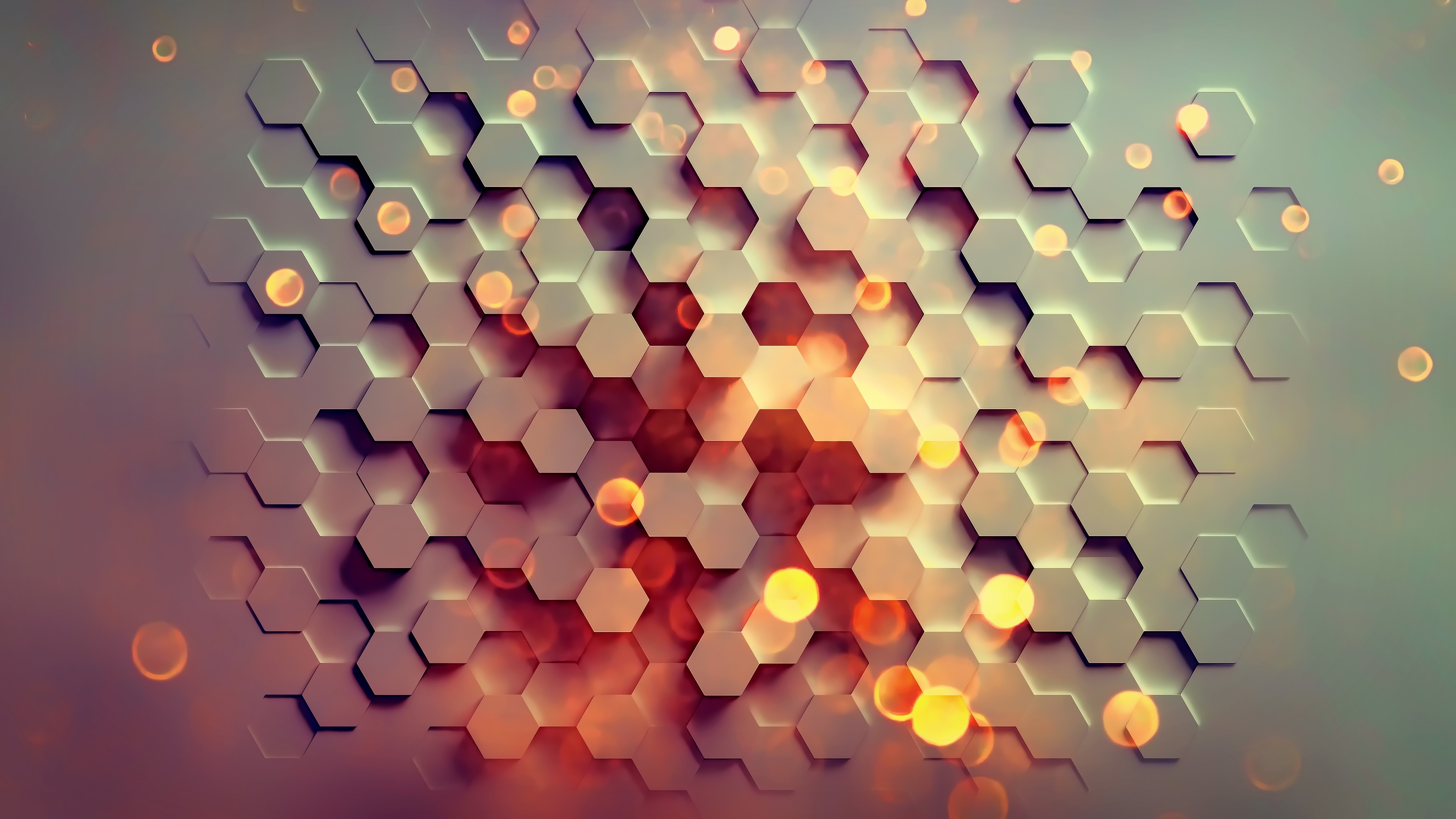Desktop Wallpaper 3d Hexagons Pattern Abstract 4k Hd Image Picture Background 7a5562