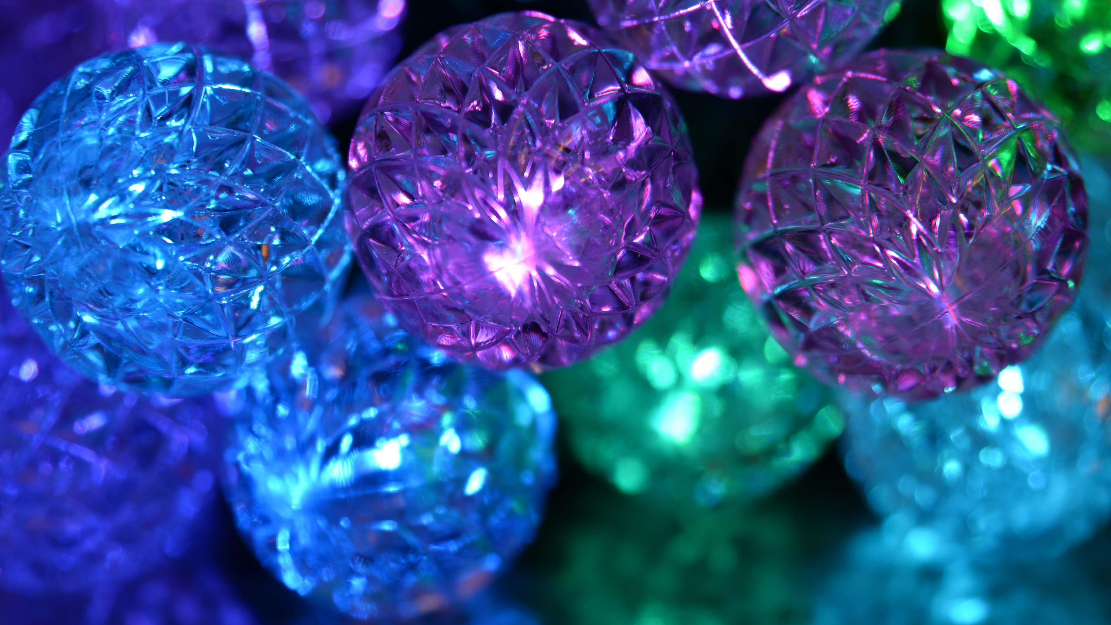 3840x2160 wallpaper Decorations, ball, glitter, party