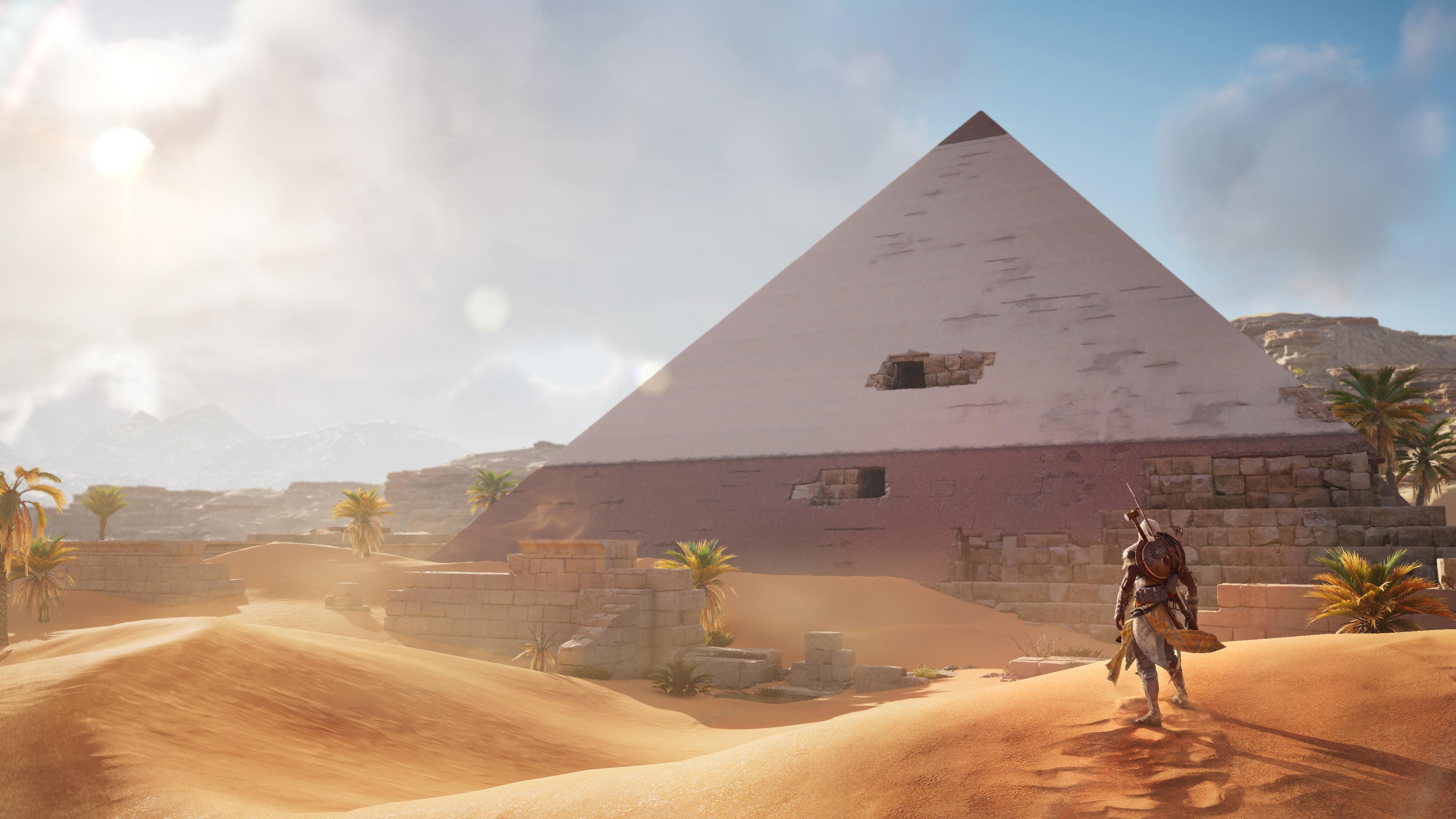 Desktop Wallpaper Assassin S Creed Origins Desert Pyramids Video Game Hd Image Picture Background E5c3a8