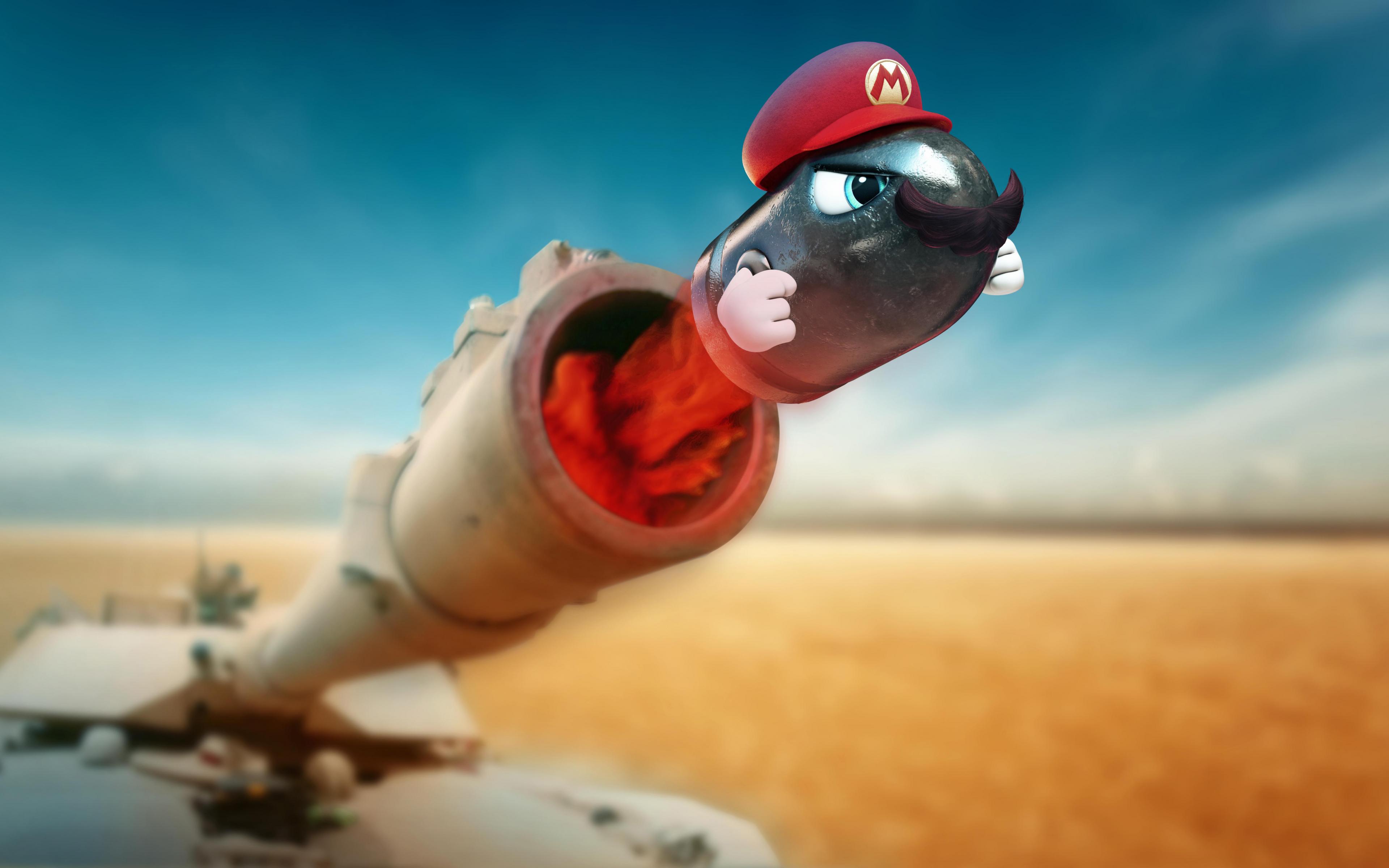 Desktop Wallpaper Super Mario Odyssey 2017 Game Tank Fire Hd Image Picture Background E27514