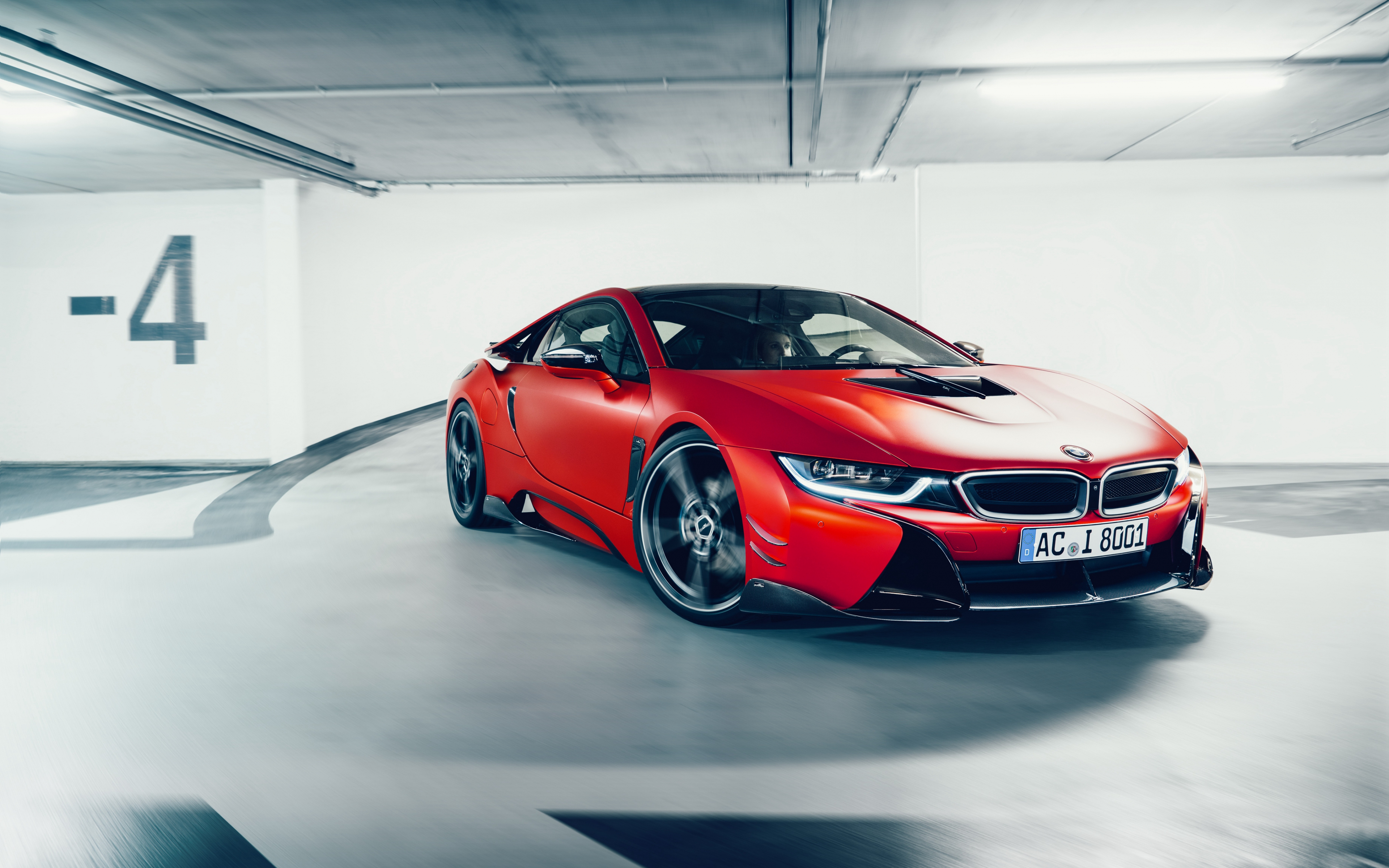 Desktop Wallpaper Bmw I8 Luxury Red Sports Car Hd Image Picture Background E46d58