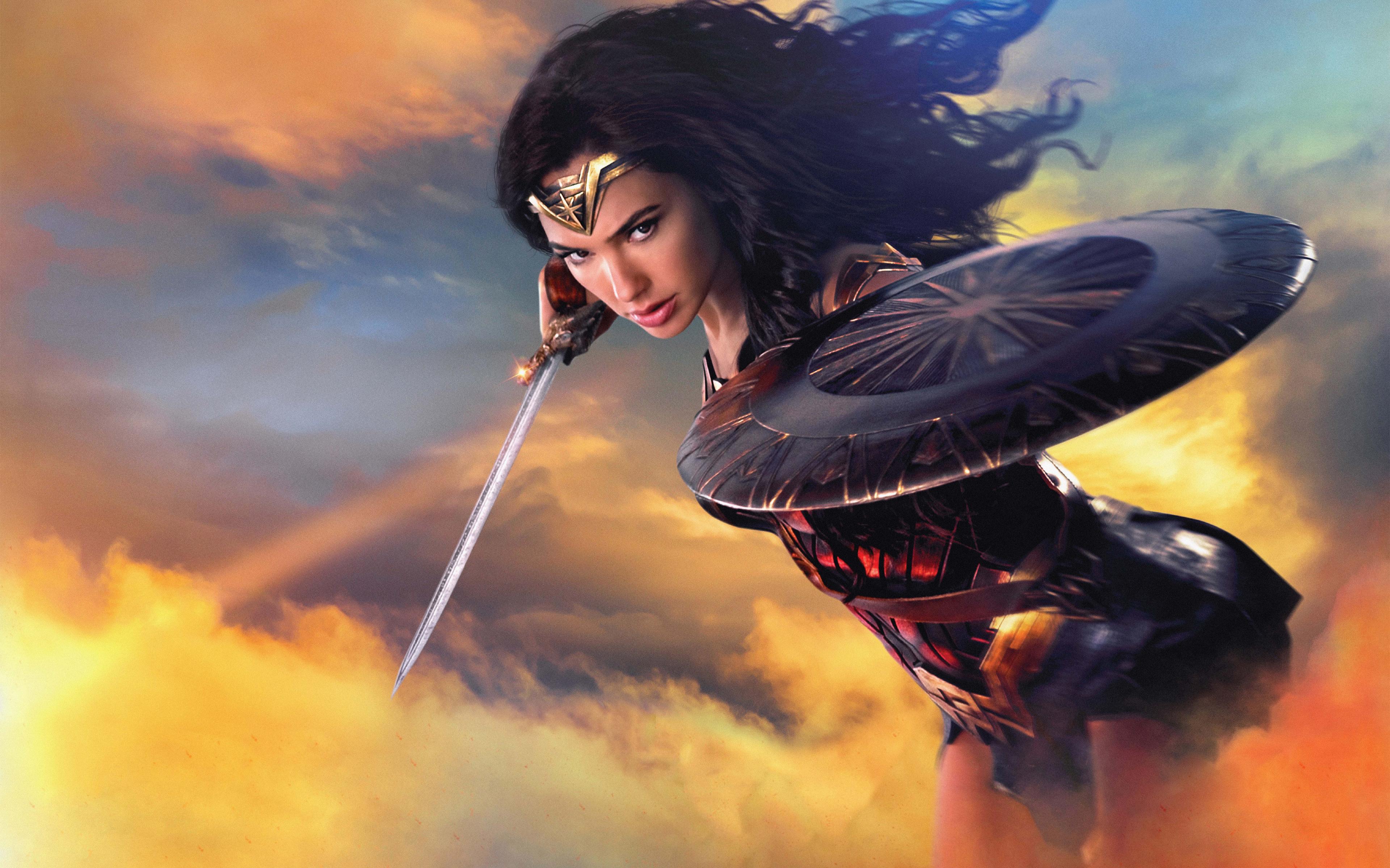 Wallpaper Gal Gadot Wonder Woman 2017 Movies Hd Movies: Download 3840x2400 Wallpaper 2017 Movie, Poster, Wonder