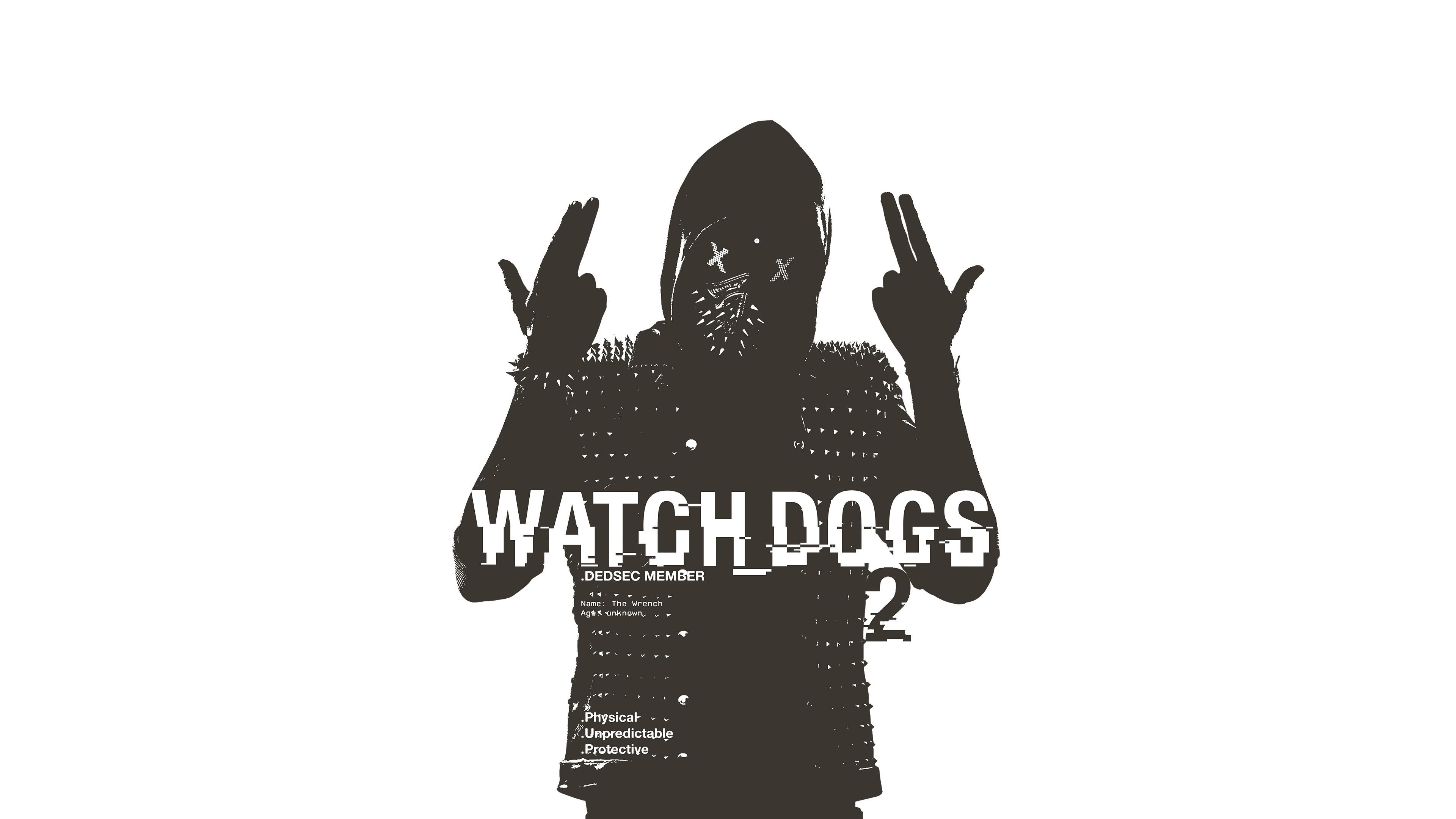 Download 3840x2400 Wallpaper Watch Dogs 2 Gaming Monochrome 4 K
