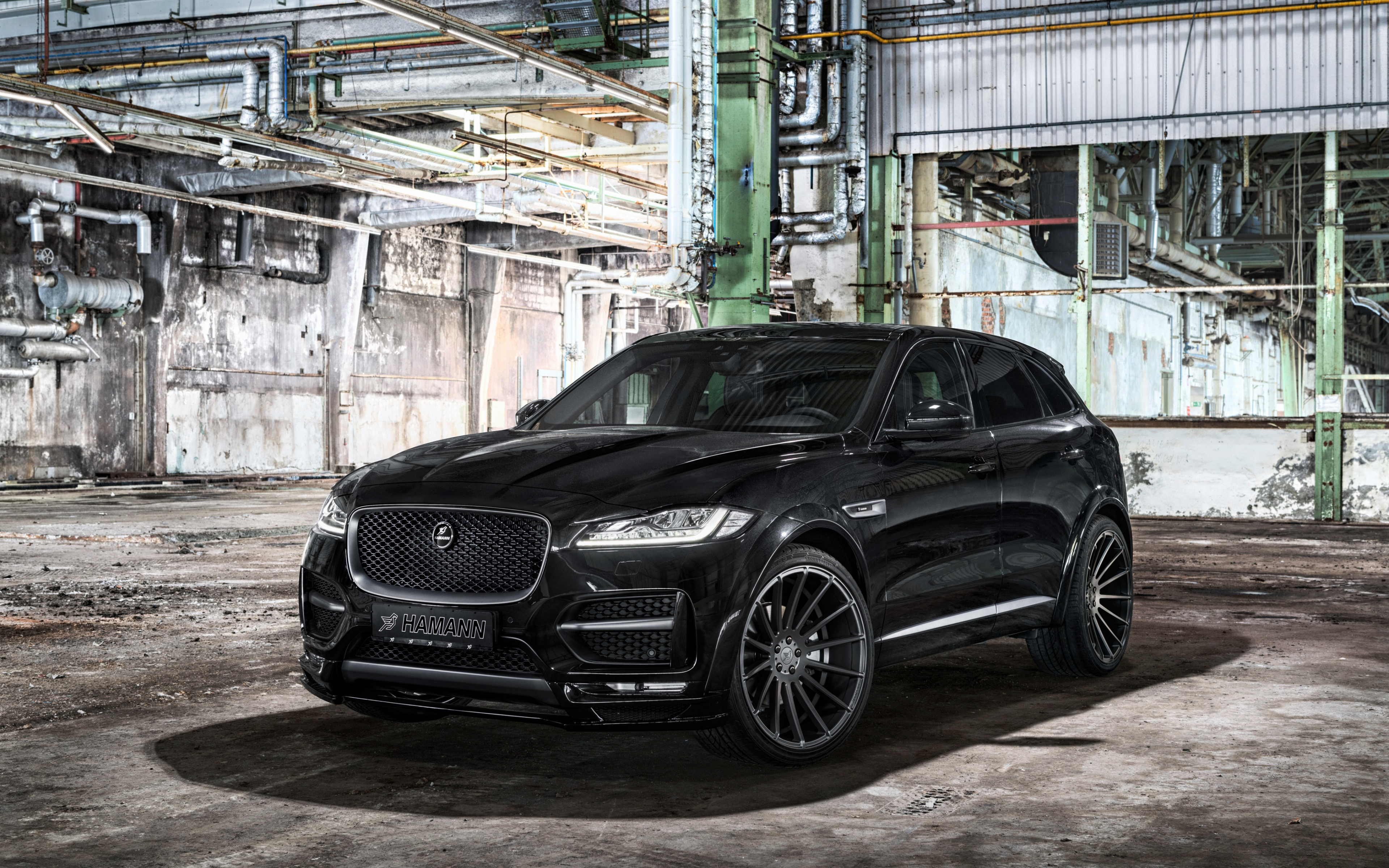 Download 3840x2400 Wallpaper 2017 Jaguar F Pace Black Luxury Car 4