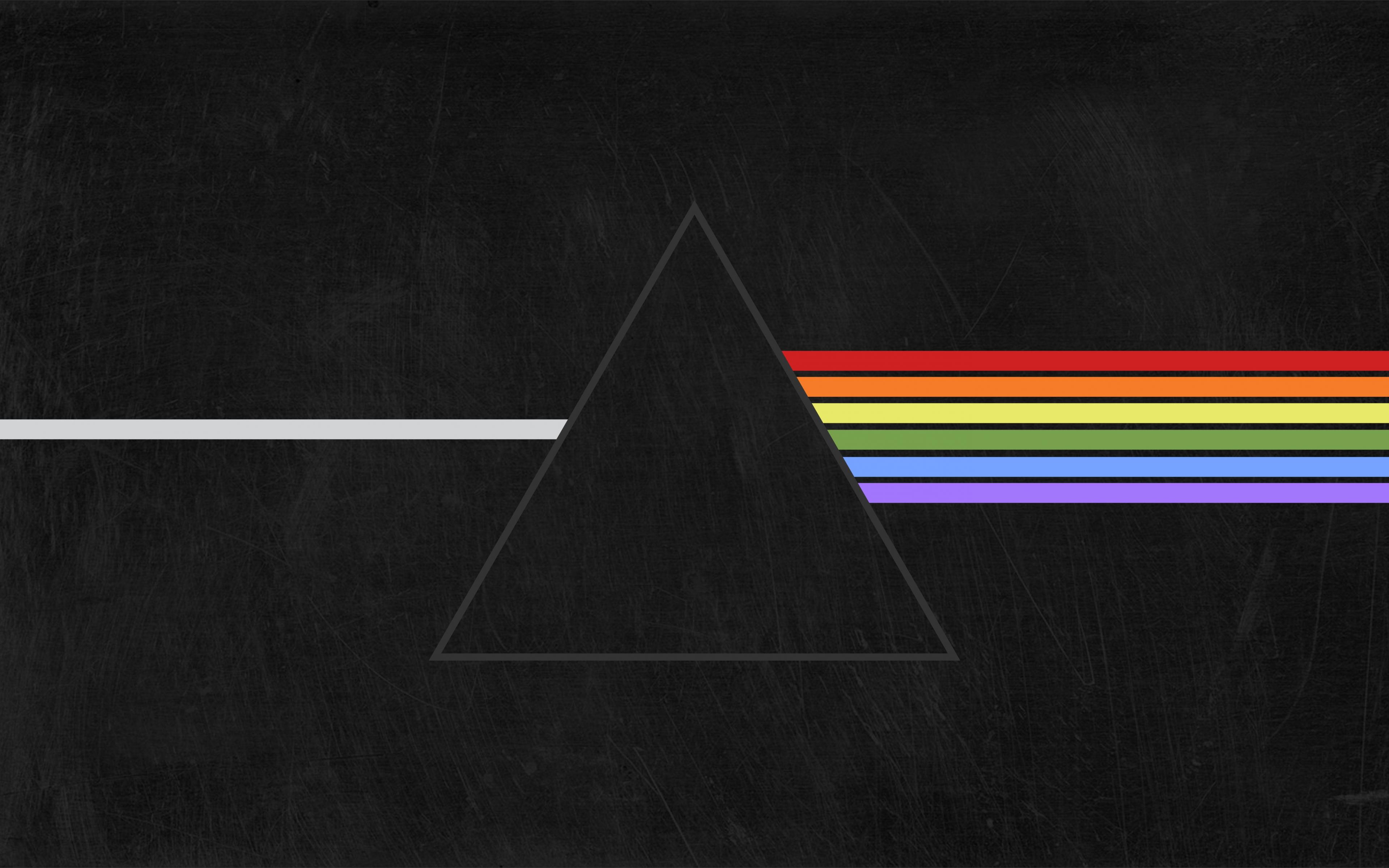 Download 3840x2400 Wallpaper Pink Floyd Prism Minimal 4 K