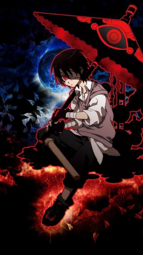 Download 480x854 Wallpaper Dark Anime Boy Umbrella Original
