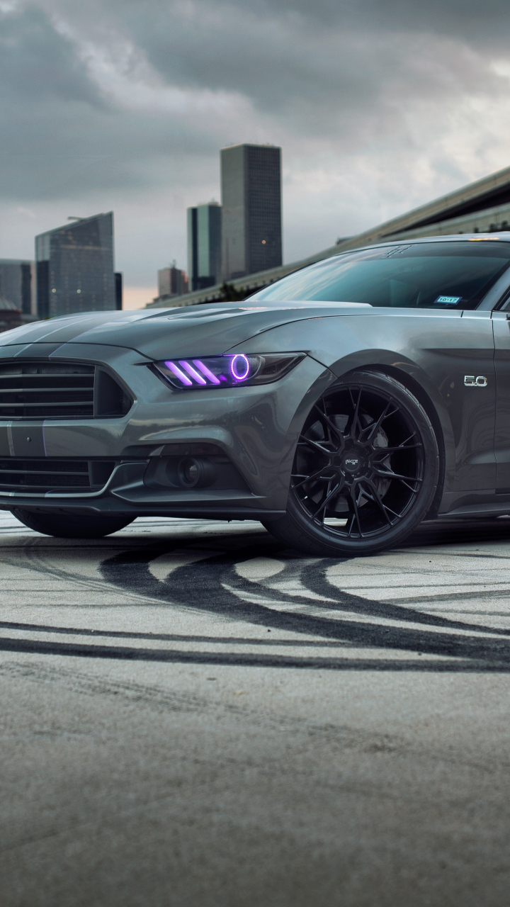 720x1280 Wallpaper Ford Mustang, 5k, Muscle Car