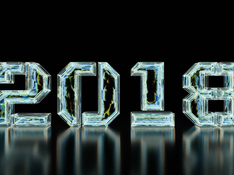 800x600 wallpaper New year, 2018, typography, digital art