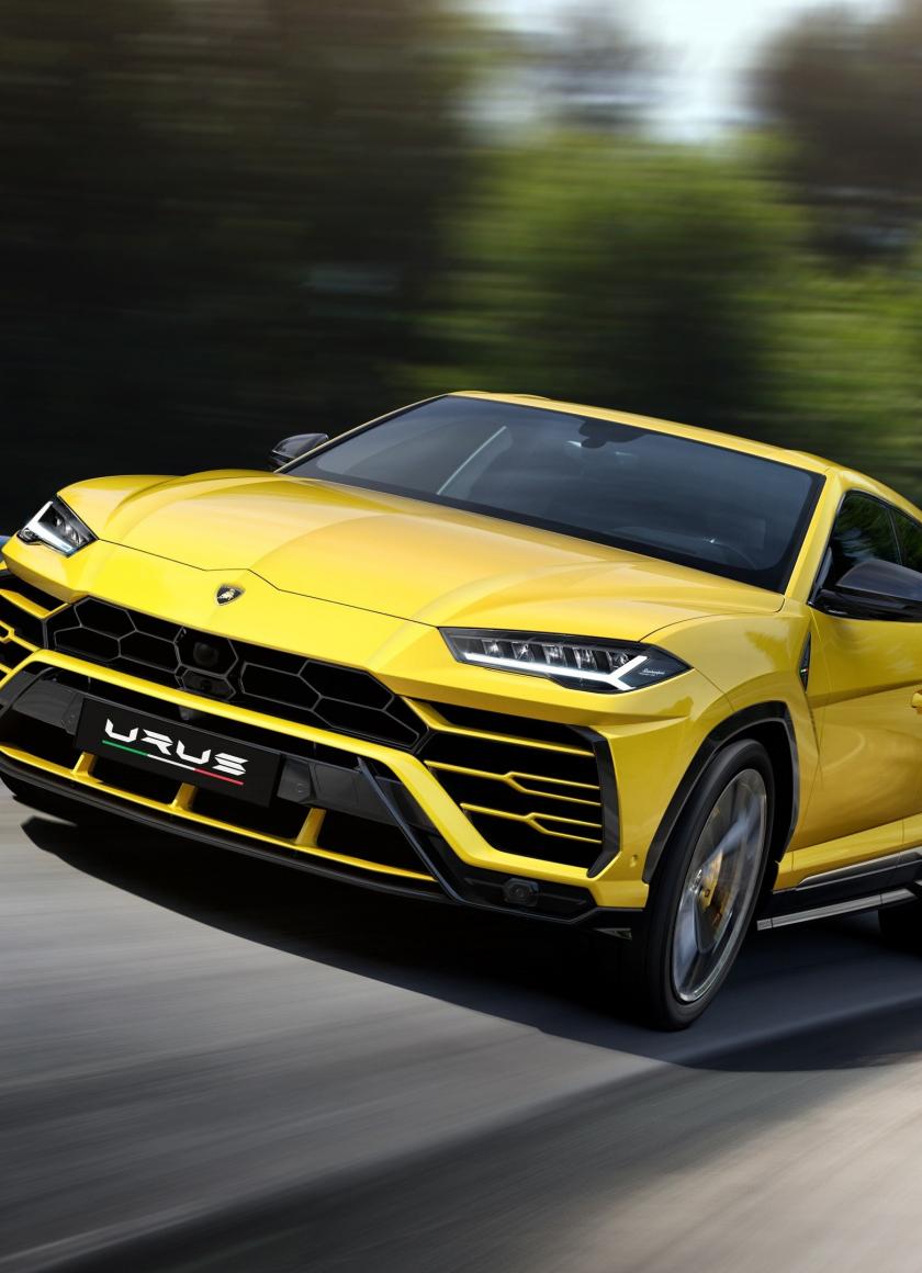 Download 840x1160 Wallpaper Lamborghini Urus Sports Car Yellow On