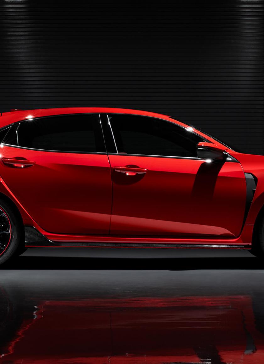Download 840x1160 Wallpaper Red Honda Civic Type R Side