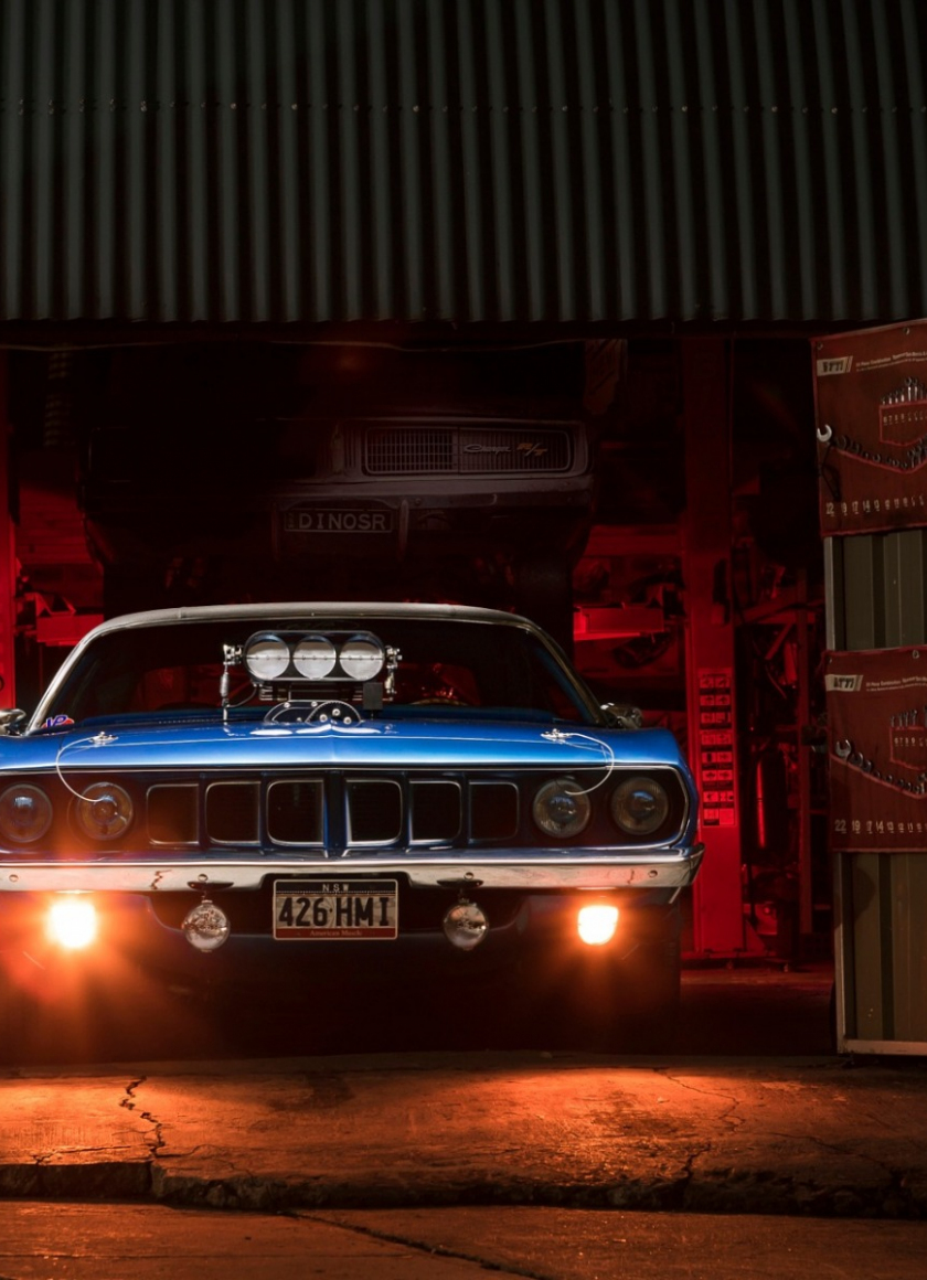 Download 840x1160 Wallpaper Plymouth Barracuda Classic Muscle Car