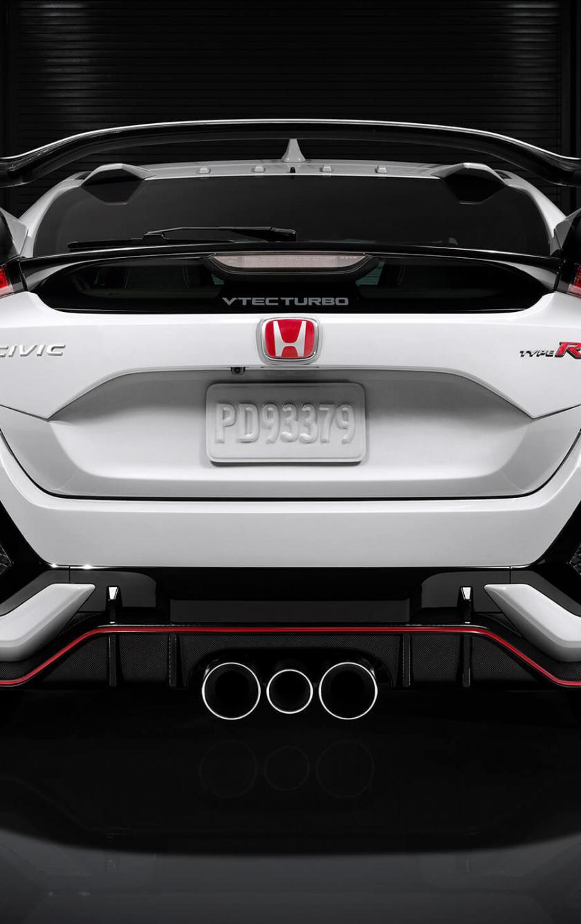 Download 840x1336 Wallpaper Honda Civic Type R Rear View I