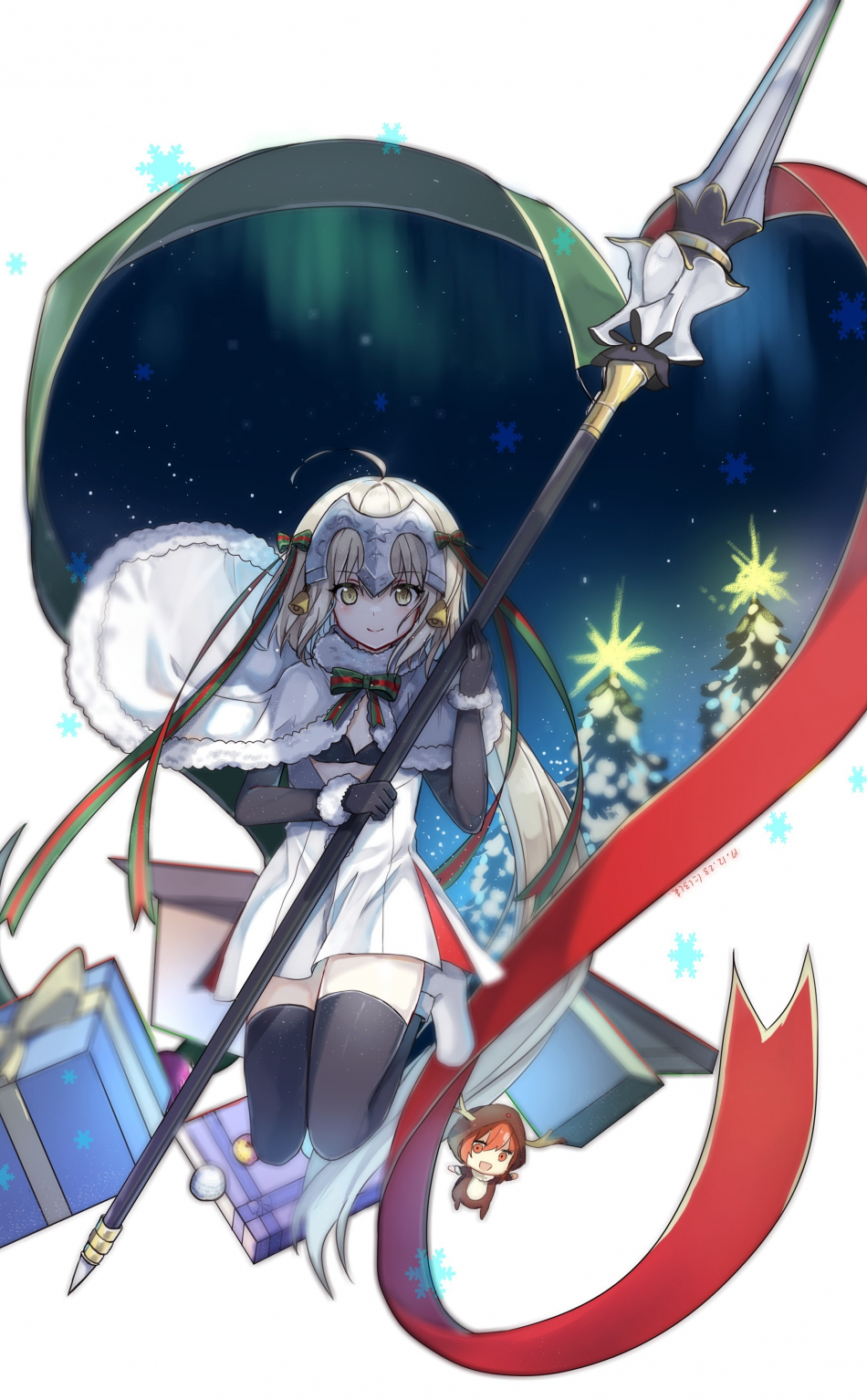 Download 950x1534 Wallpaper Jeanne D Arc Christmas Fate Series