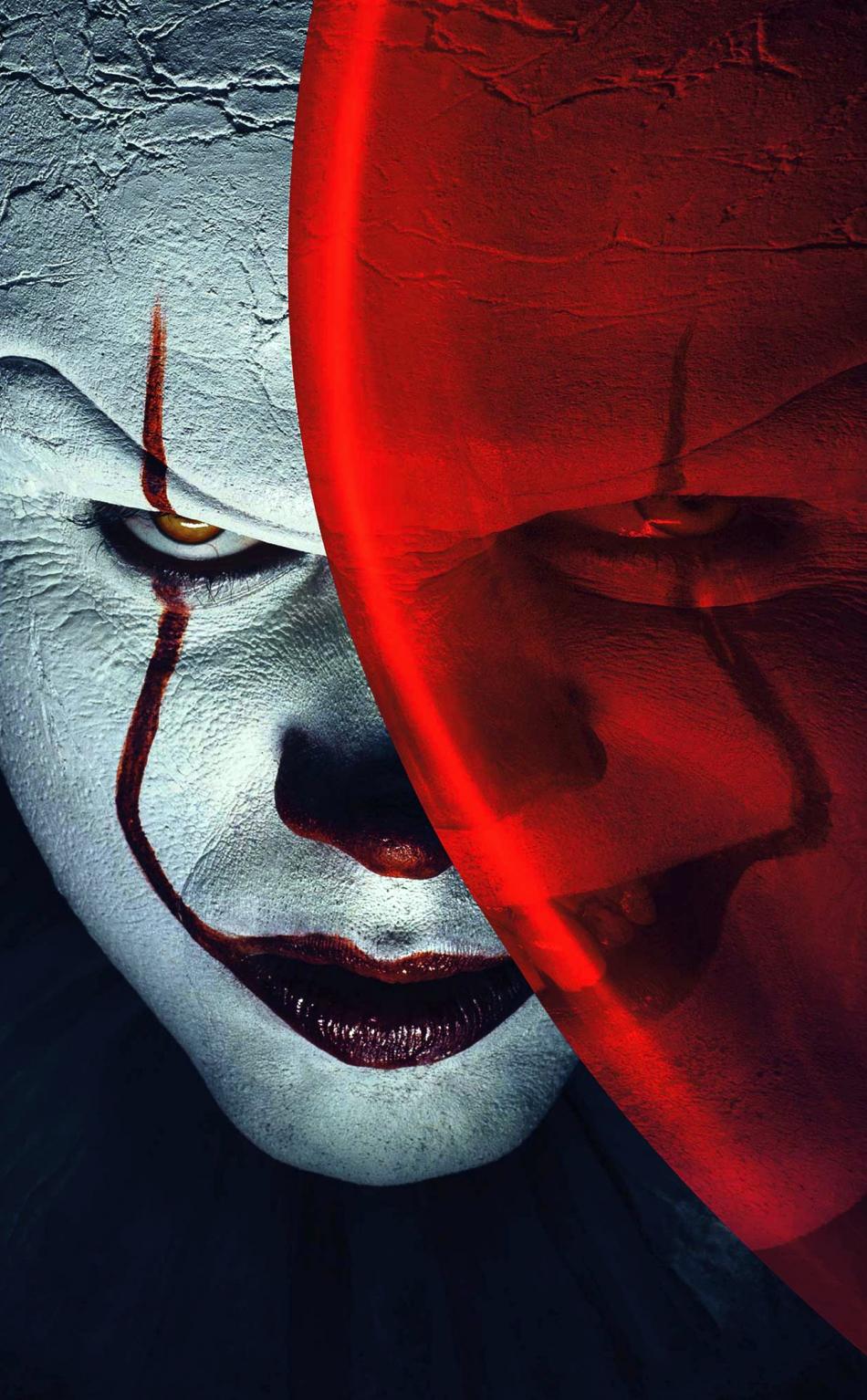 Download 950x1534 Wallpaper Joker, Clowns, It, Balloon