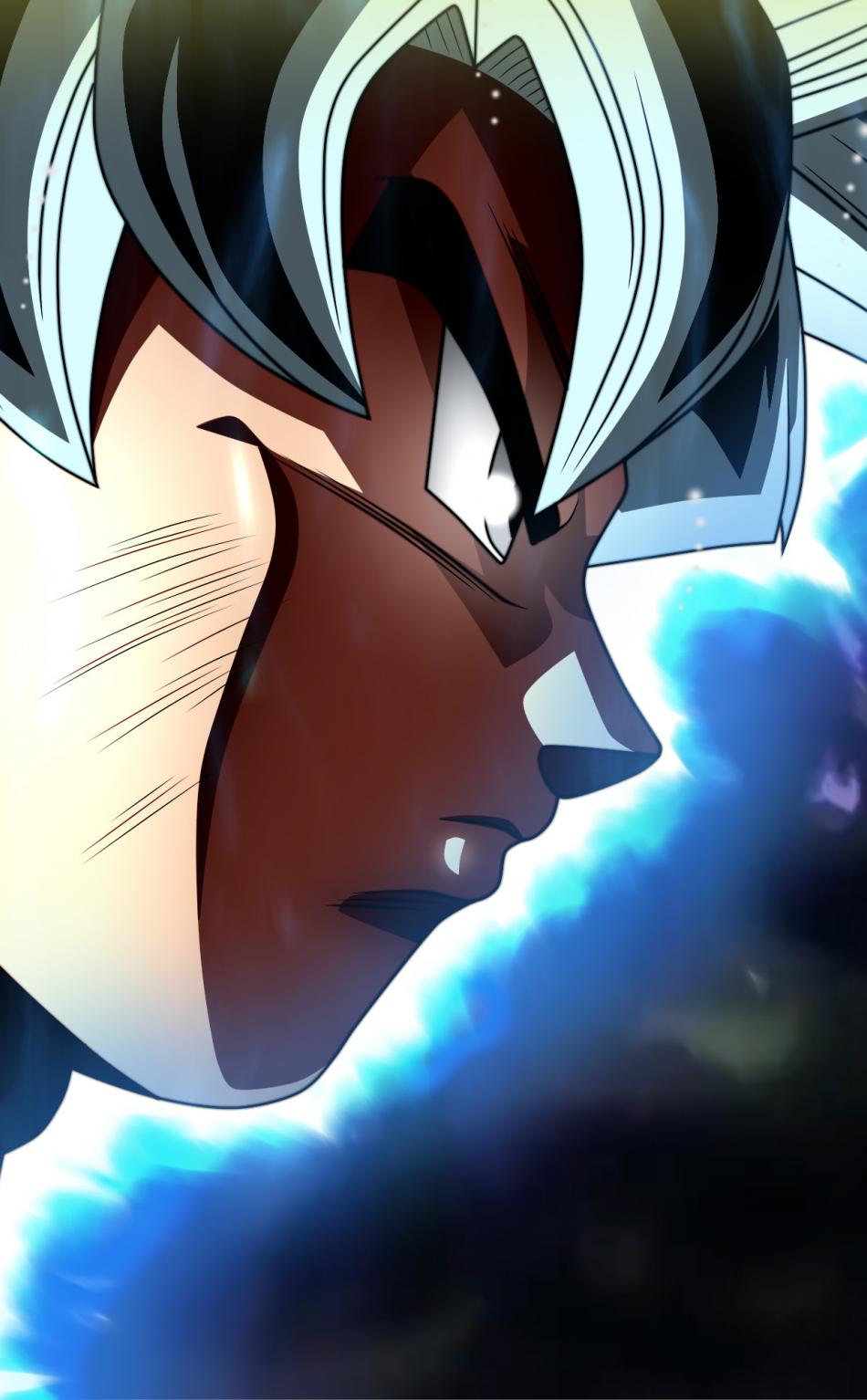 Download 950x1534 Wallpaper Goku S Face Dragon Ball Super