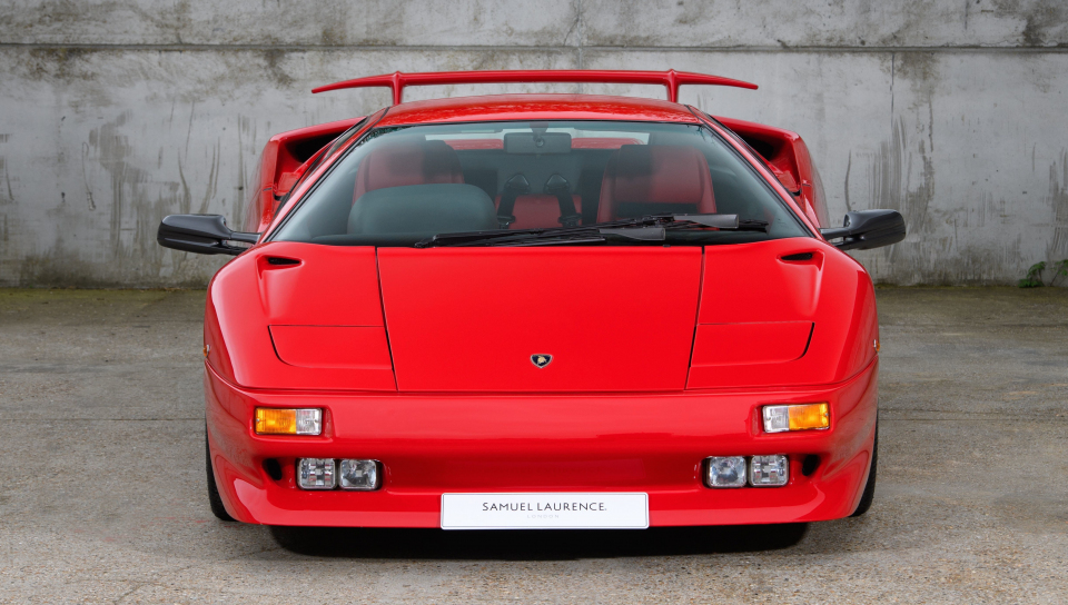 Download 960x544 Wallpaper Lamborghini Diablo Red Front 5k Play
