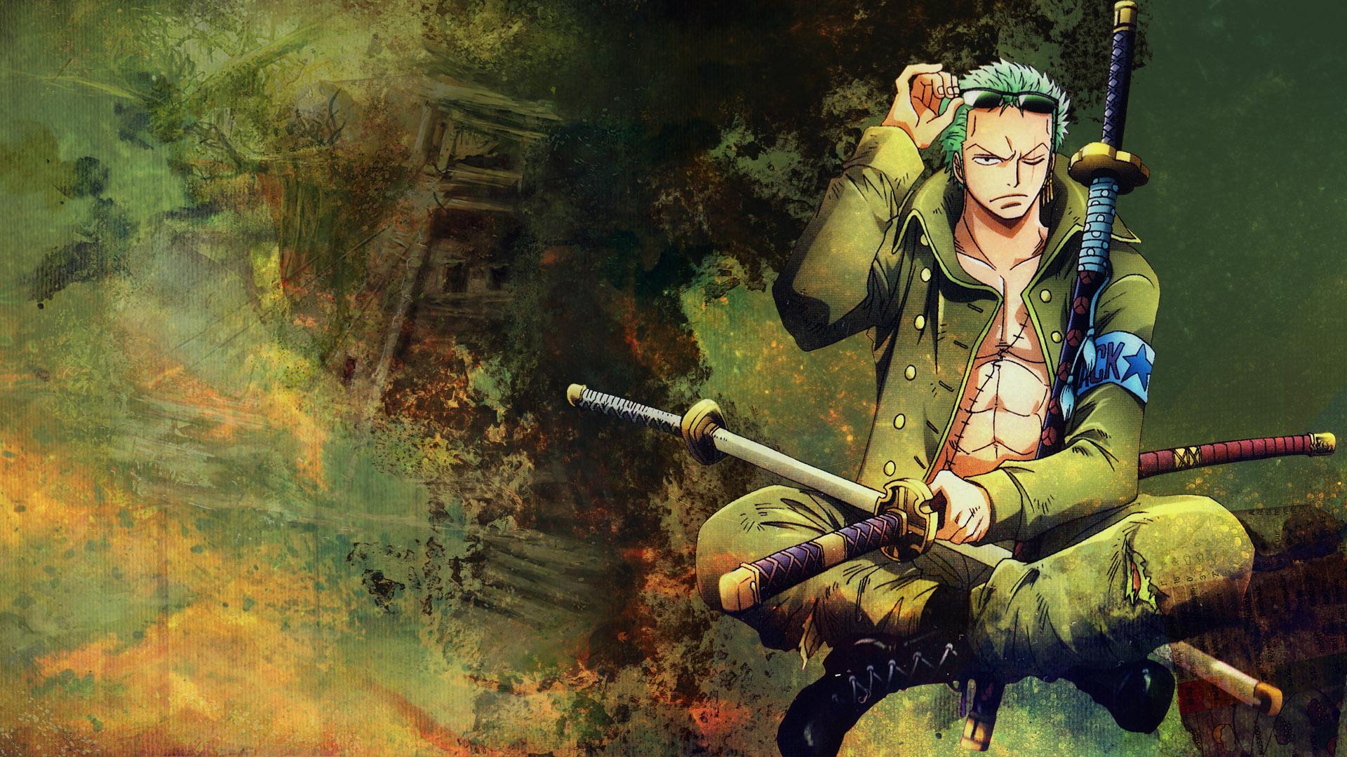 Desktop Wallpaper Roronoa Zoro One Piece Anime Boy Hd Image