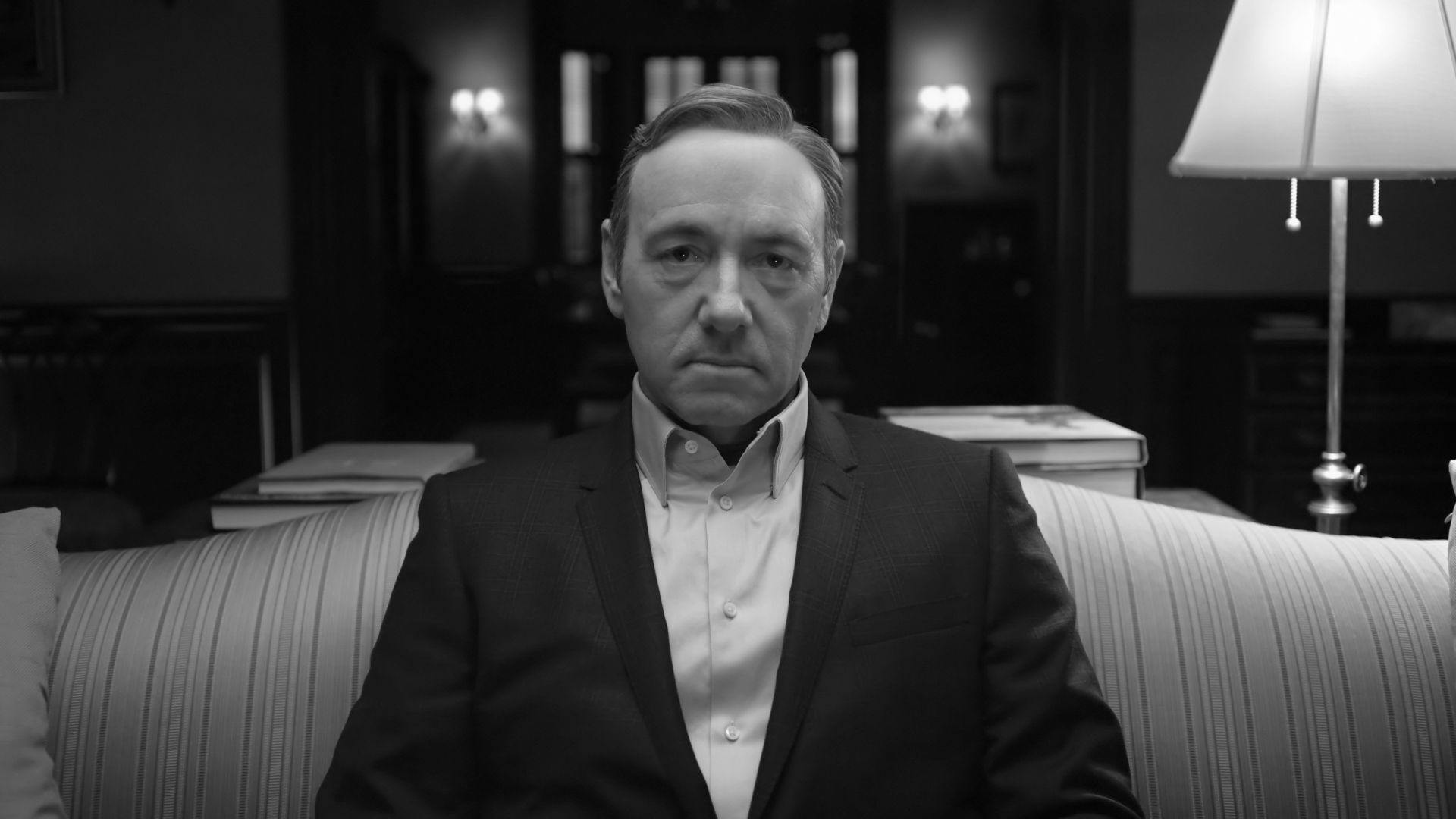 Wallpaper Kevin Spacey, House of Cards, monochrome, TV actor