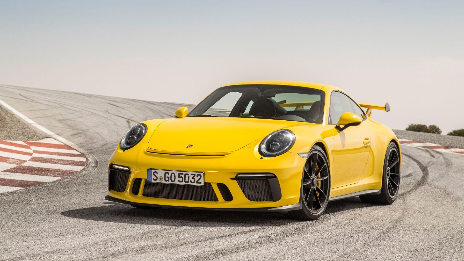 Delightful Porsche 911 GT3, Racing Car, Yellow, 2018, 4k Amazing Pictures