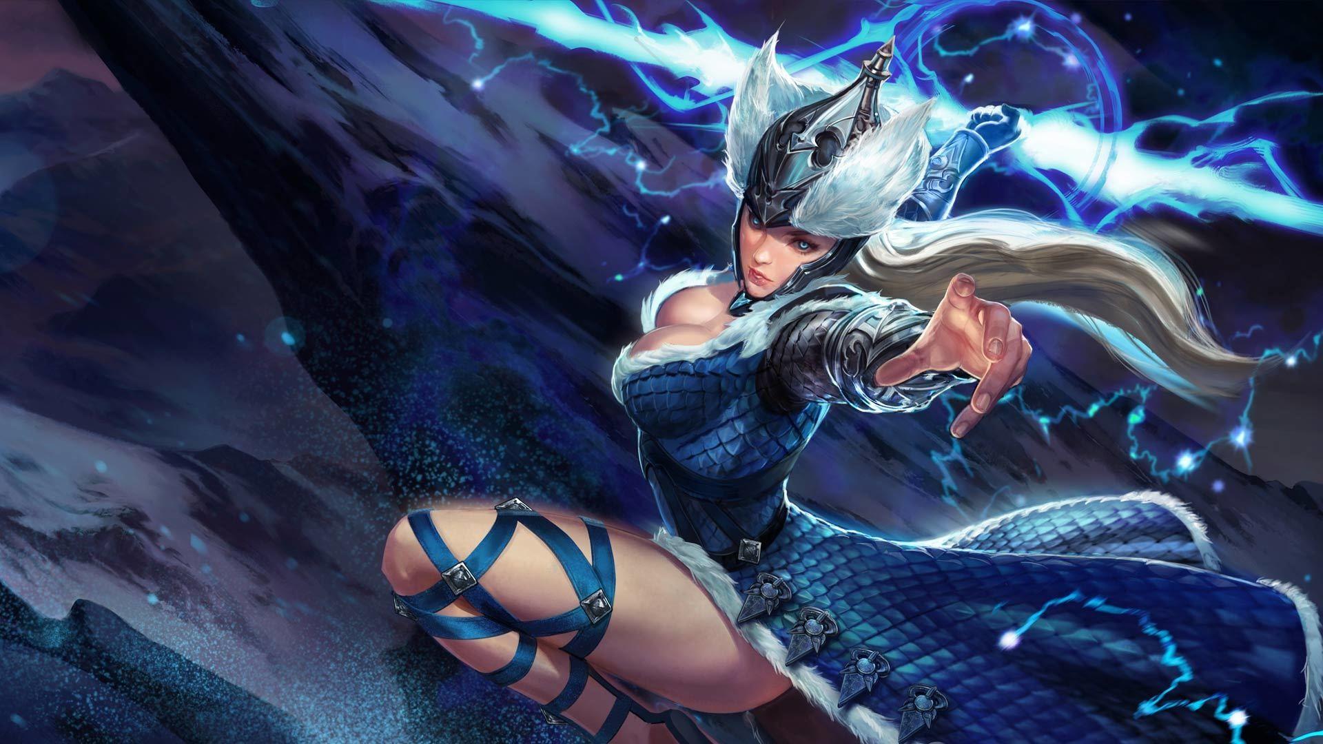 Wallpaper Varya, girl warrior, vainglory, video game