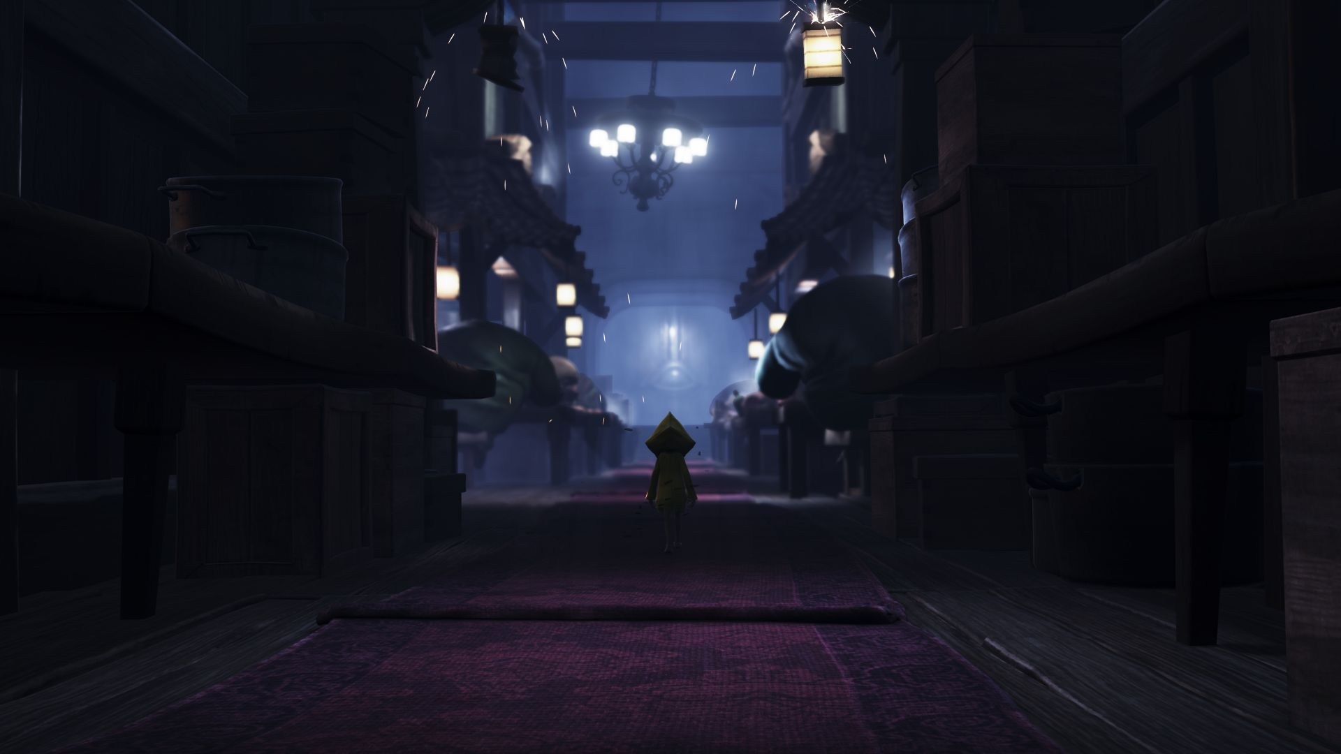Little Nightmares, game, dark, street