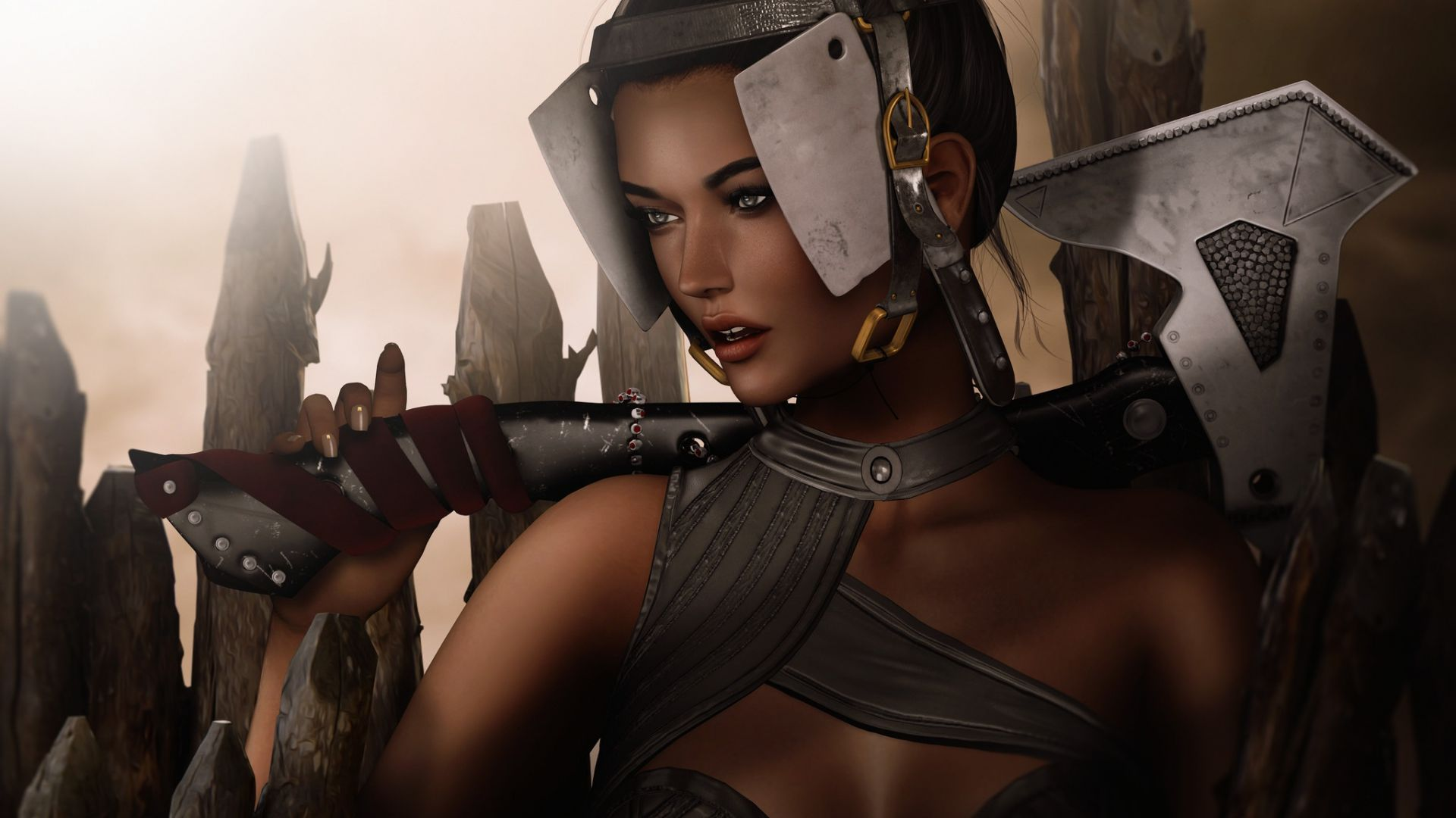 Wallpaper Fantasy girl, warrior, artwork