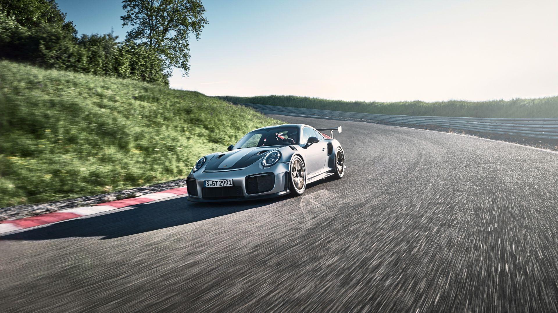 Wallpaper Porsche 911 GT2, sports car, running