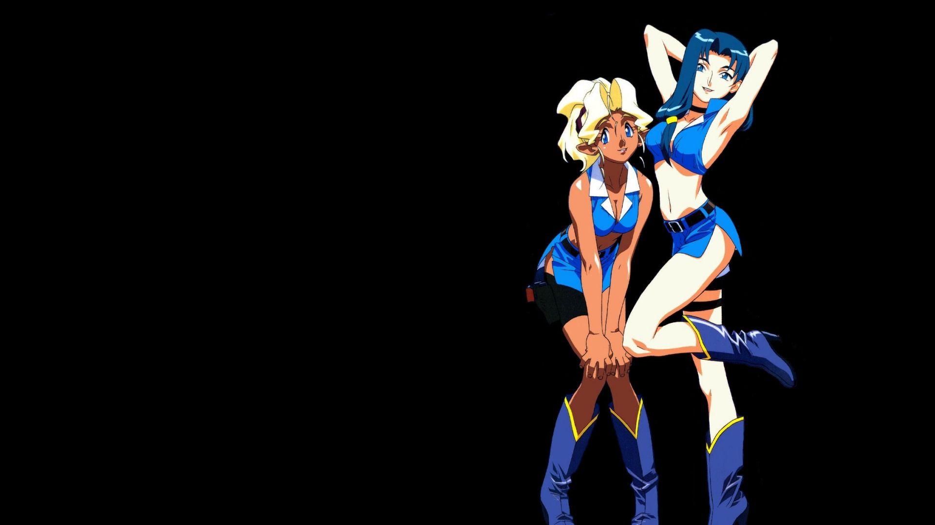 Wallpaper Mihoshi Kuramitsu, Misao Kuramitsu, Tenchi Muyo, anime girl