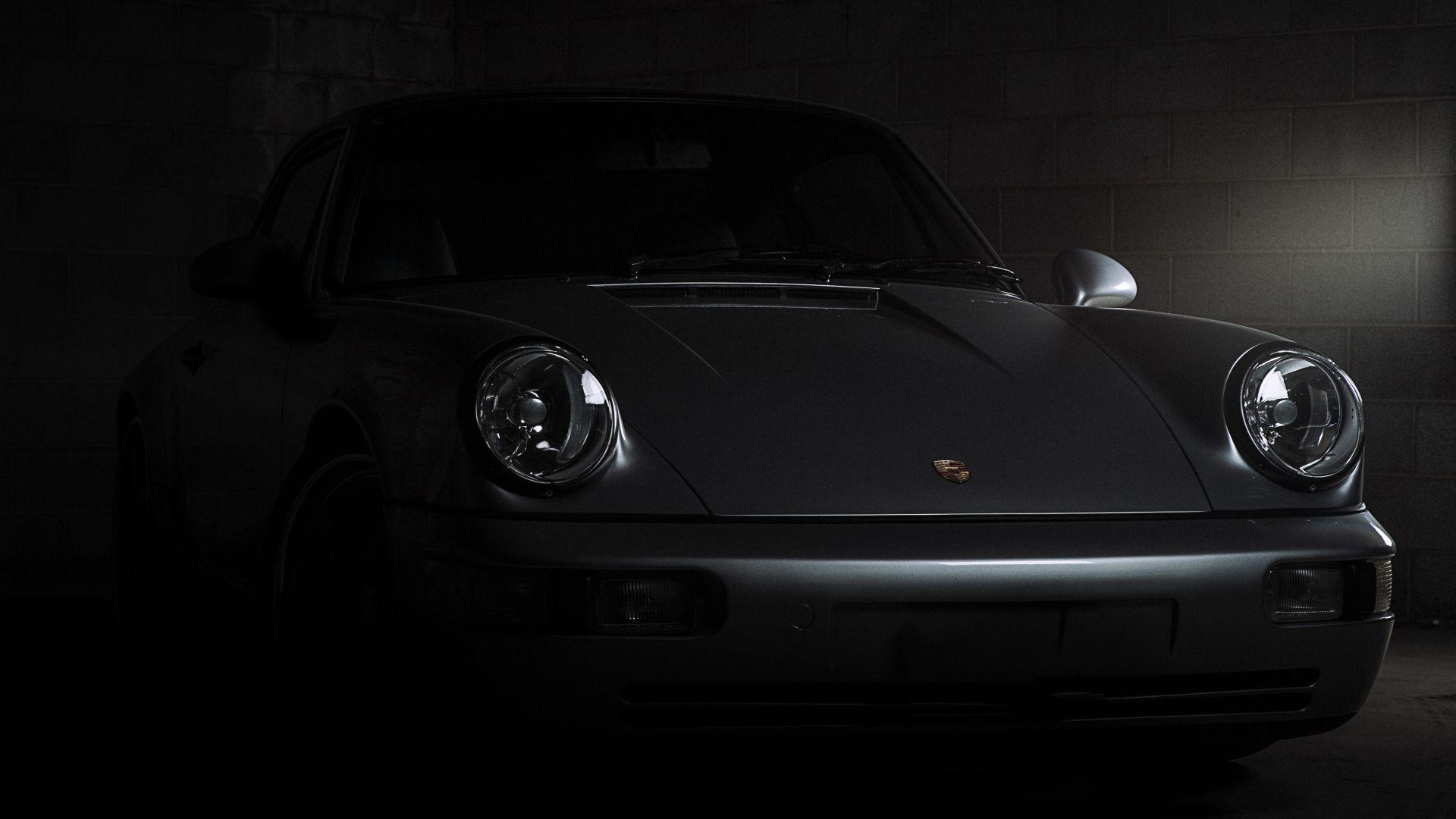 Porsche 911 Carrera, Headlight, Front, 4k Wallpaper