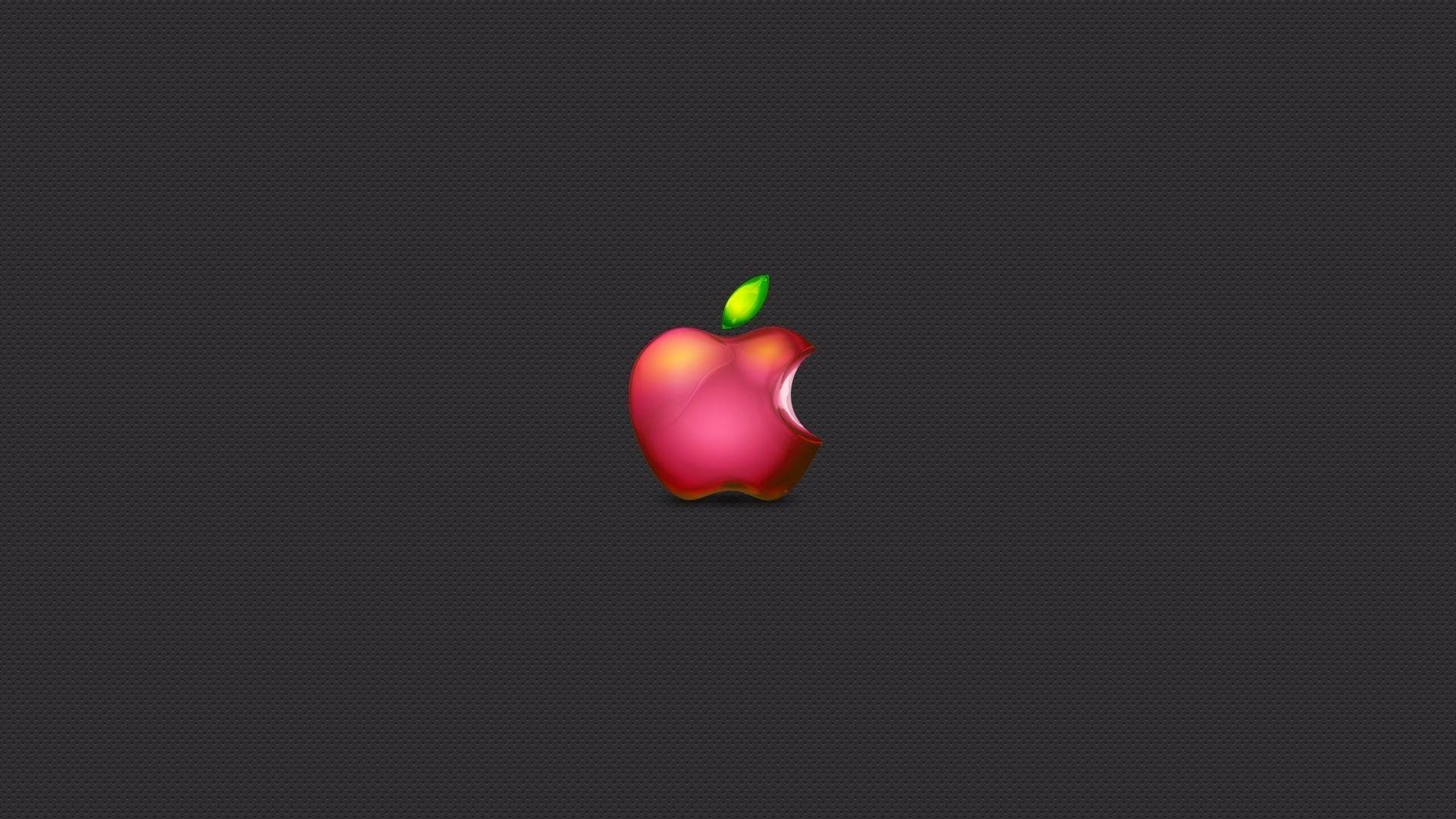 Wallpaper Apple, bite, logo, minimal