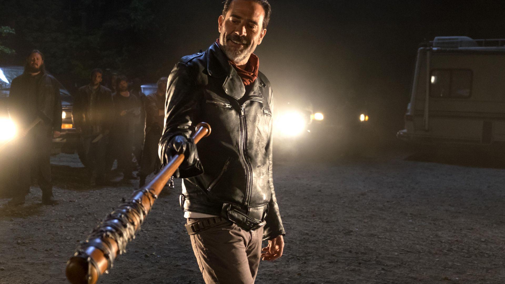 Wallpaper Jeffrey Dean Morgan in The Walking Dead season 7 TV series