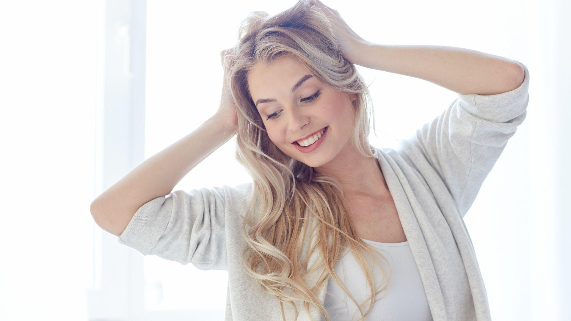 Desktop wallpaper happy mood girl model blonde hd image picture background 19342b - Happy mood wallpaper ...
