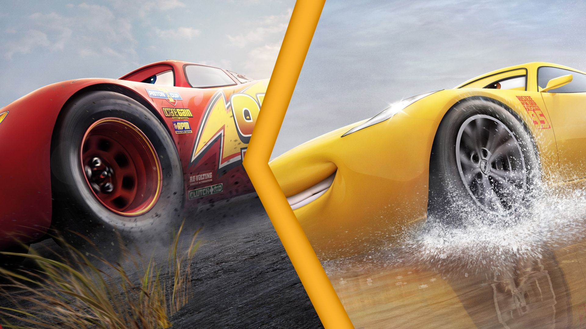 Desktop Wallpaper Race Lightning Mc Queen Vs Cruz Ramirez Cars 3