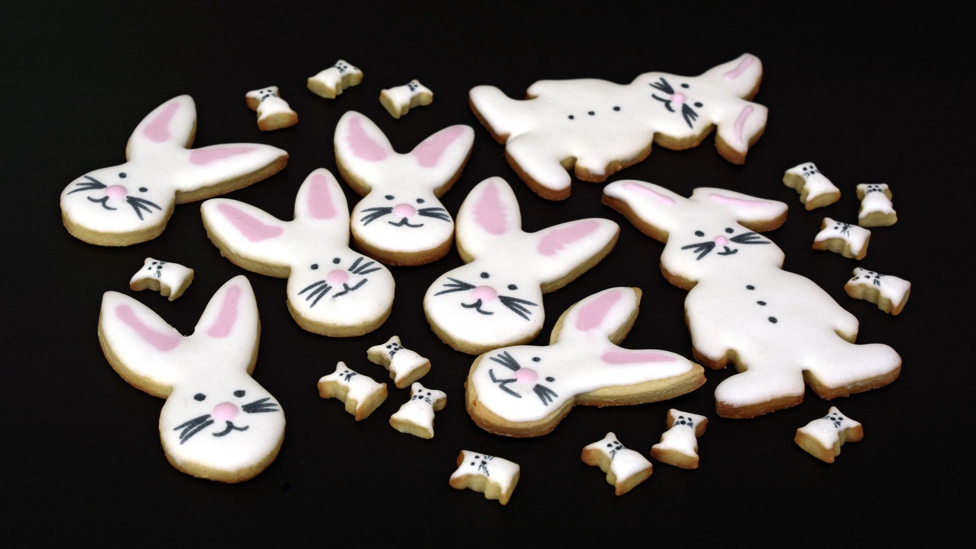 Wallpaper Cookies, Easter bunny cookies, party, baking