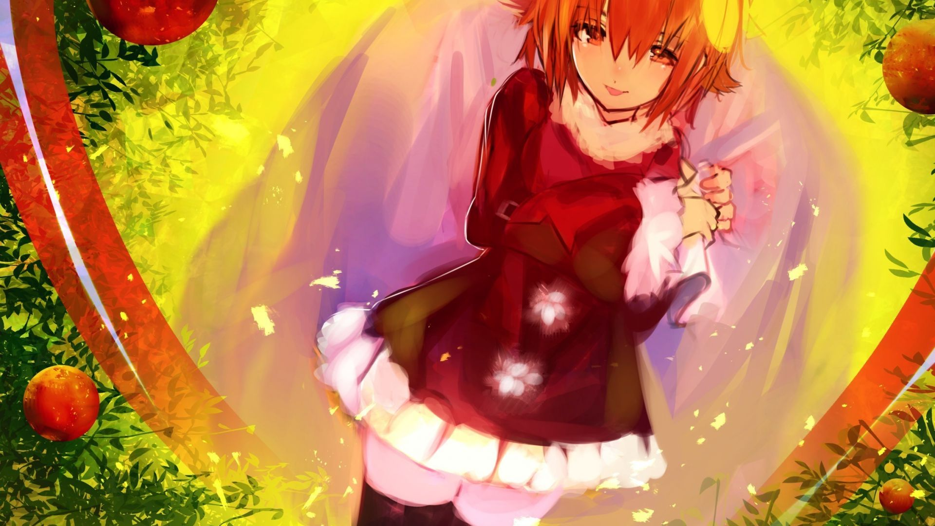 christmas anime girl art