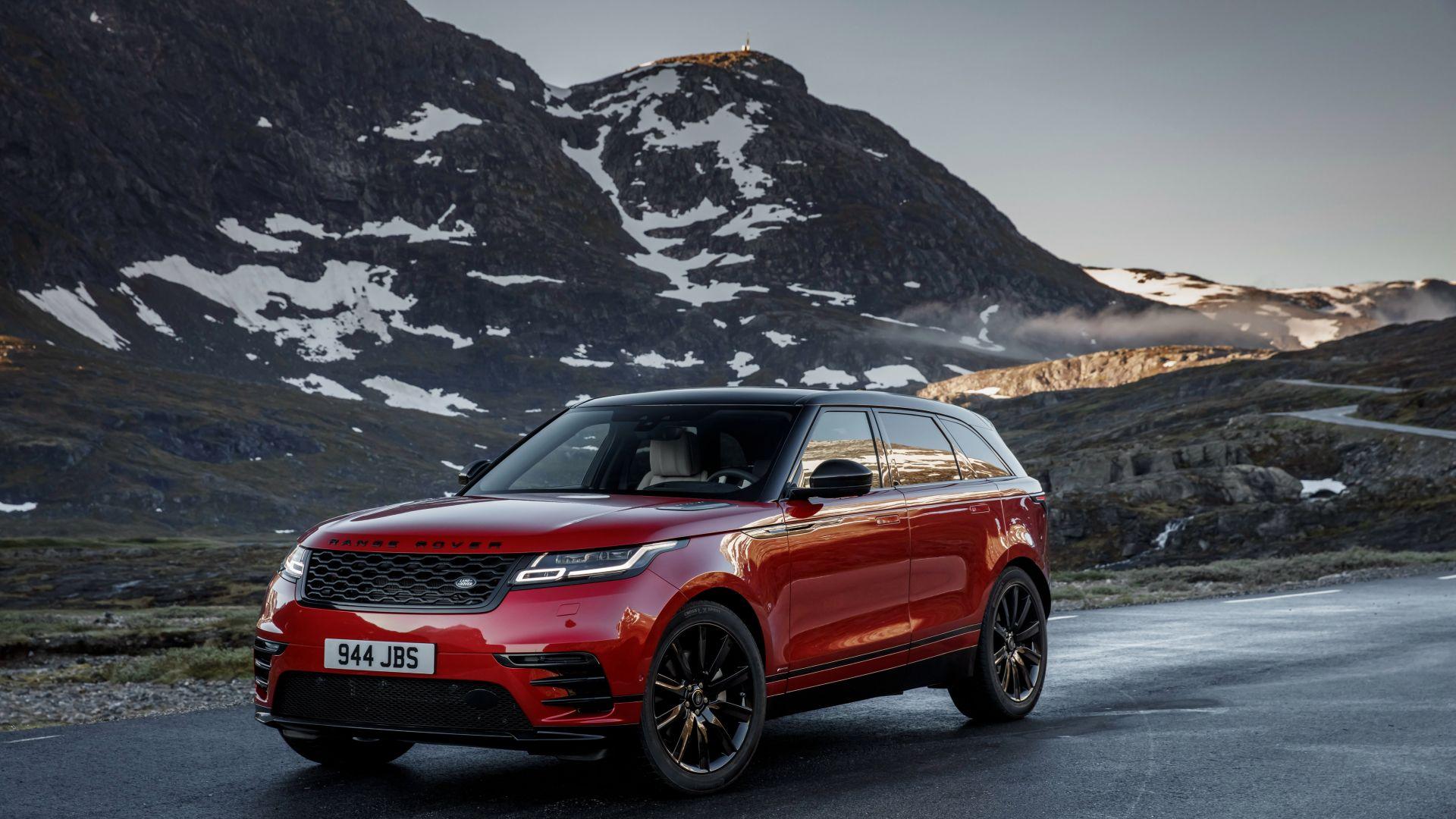 Desktop Wallpaper New Range Rover Velar R Dynamic, Red Car ...