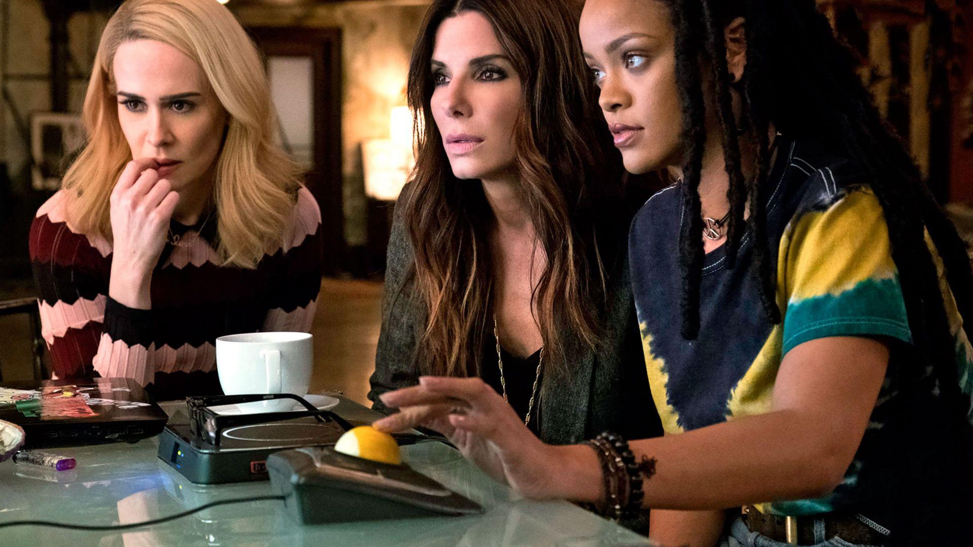 Sandra Bullock, Rihanna, Sarah Paulson, Ocean's 8, 2018 movie, actress