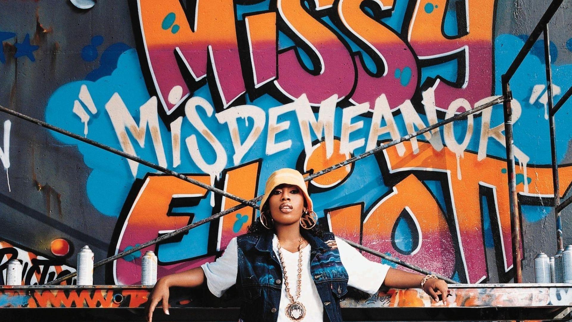 Wallpaper Missy Elliott, celebrity, Graffiti