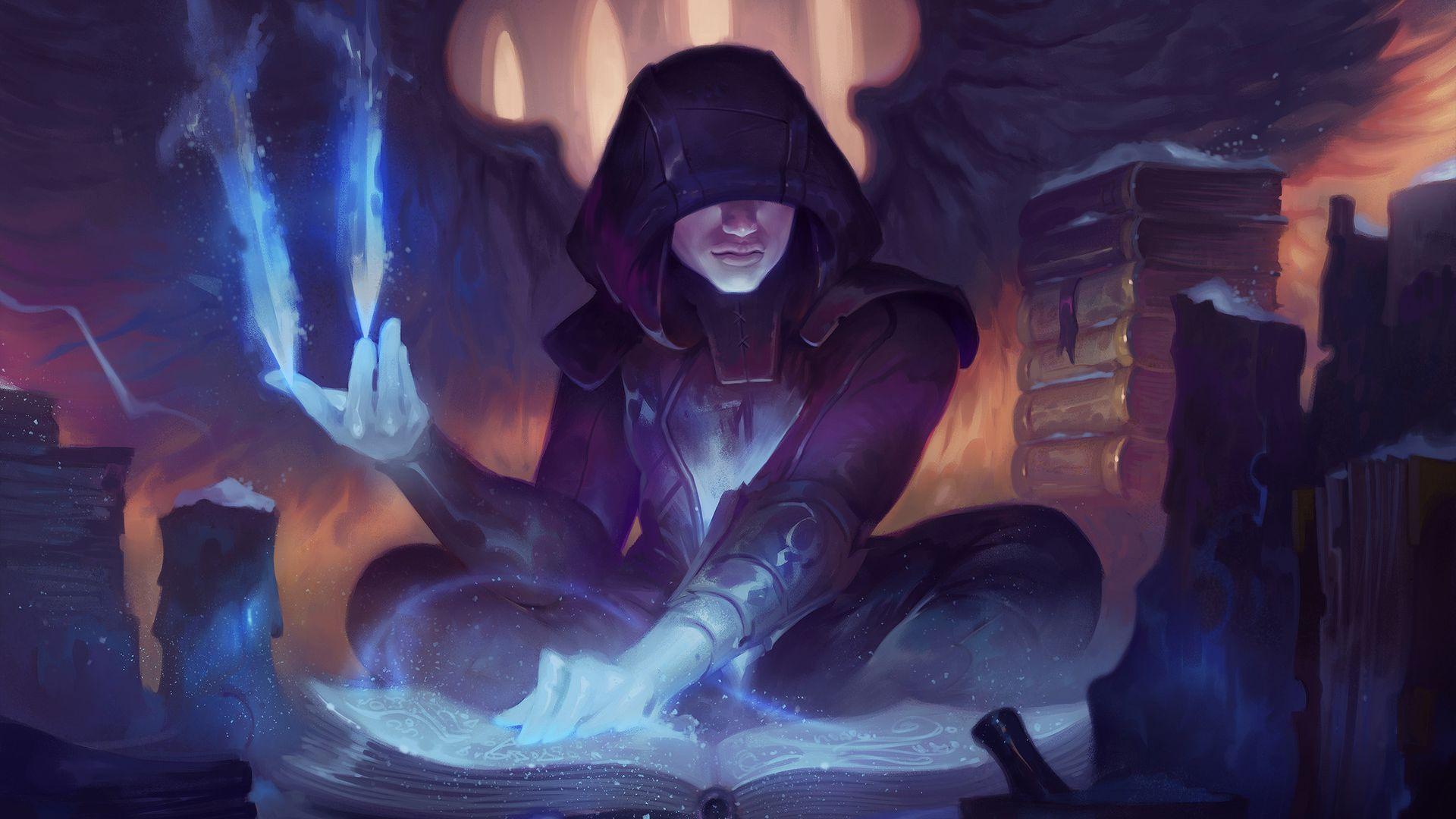 Wallpaper Fantasy, reading, warrior