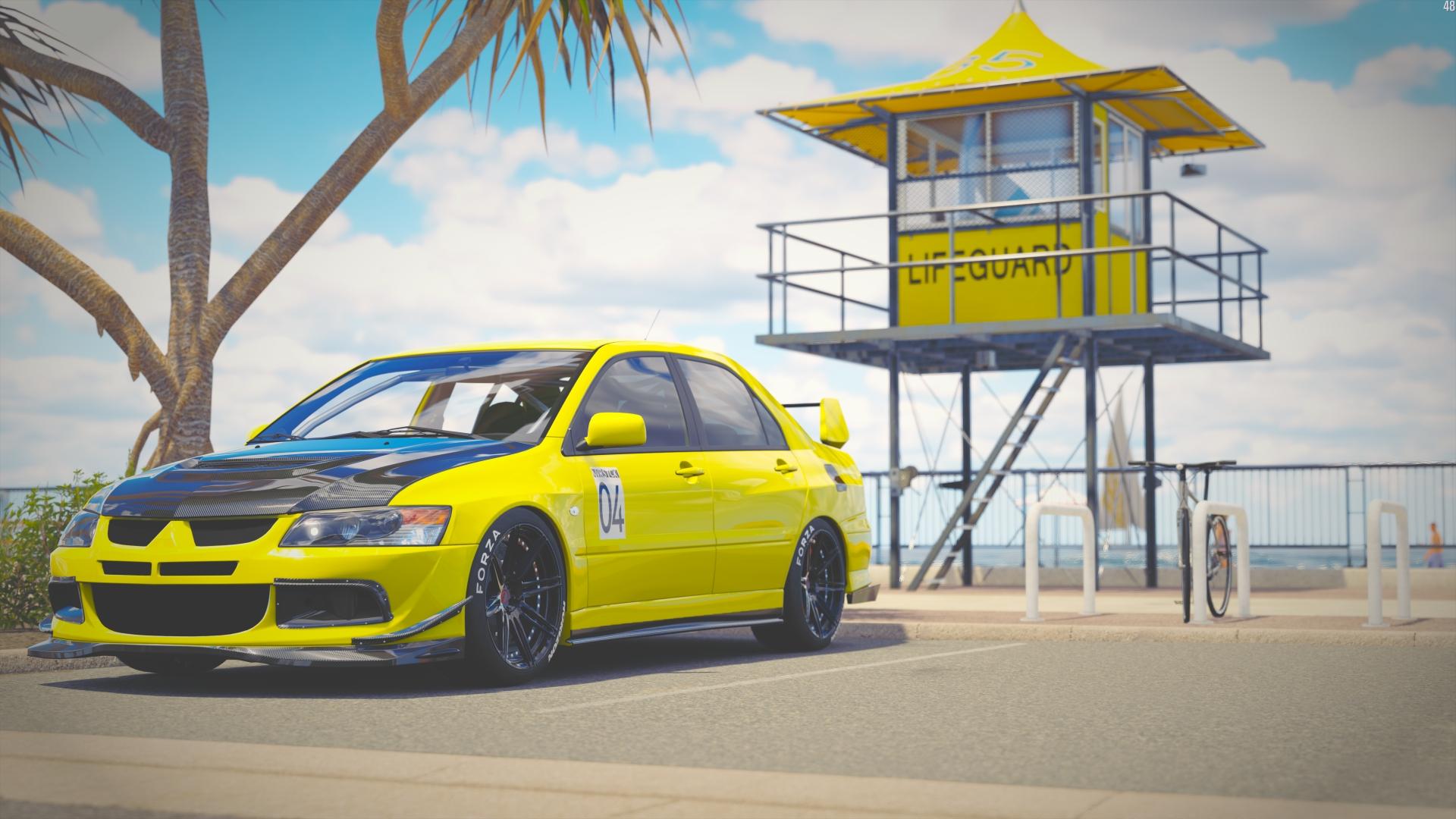 Wallpaper Forza Horizon 3, video game, Mitsubishi Lancer Evolution, car