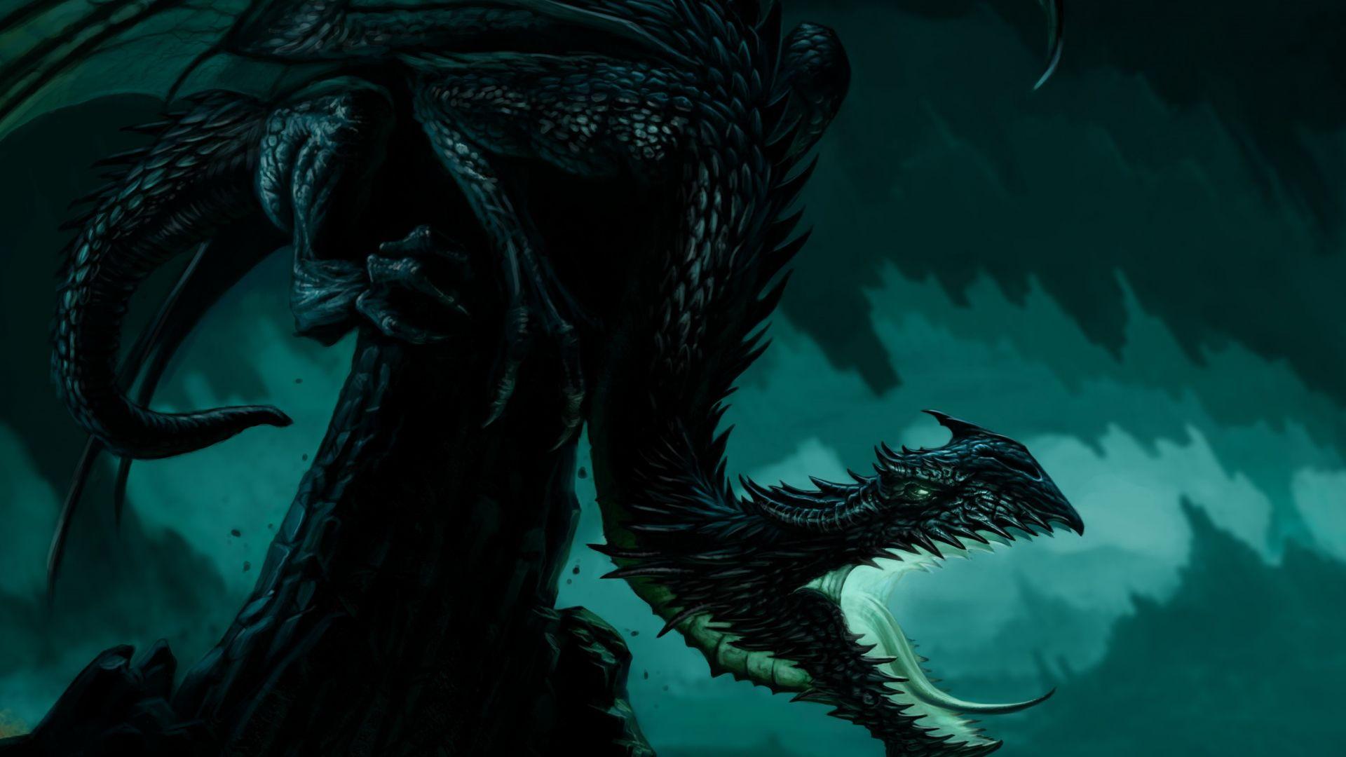 Black Dragon Fantasy Art