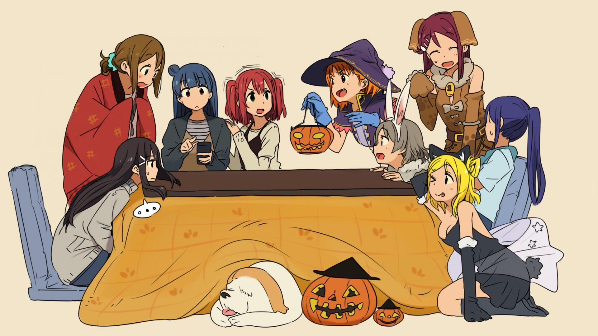 Wallpaper Love live! sunshine!!, anime girls, halloween, party