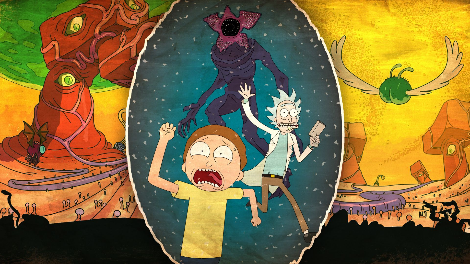 Rick and morty, animated, tv show, run, 4k Wallpaper