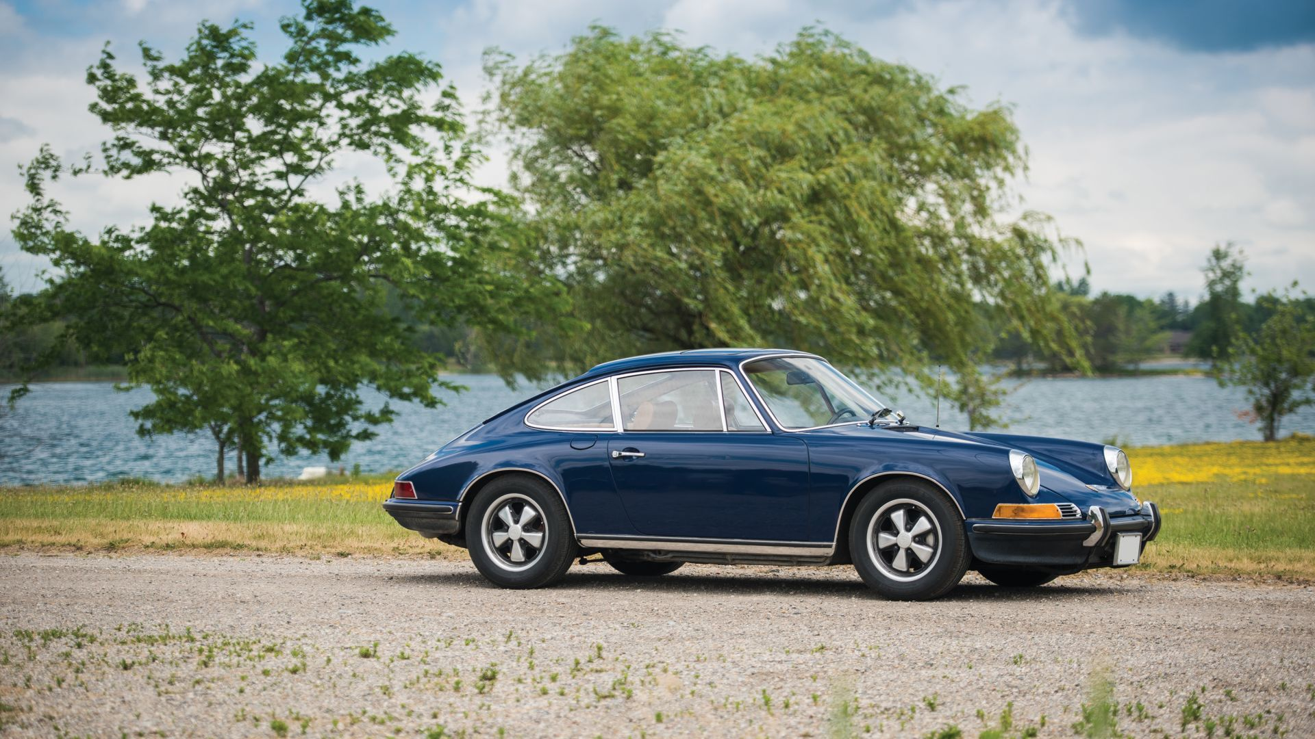 Porsche 911, Blue Classic Car Wallpaper