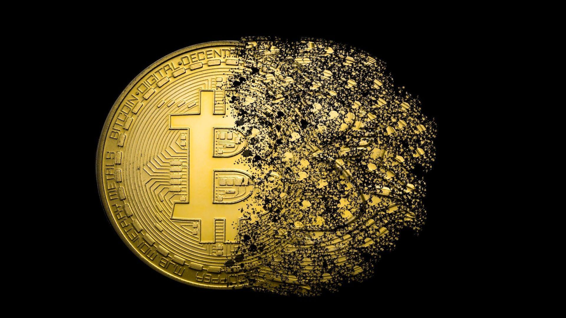 Wallpaper Bitcoin, currency, money, digital art