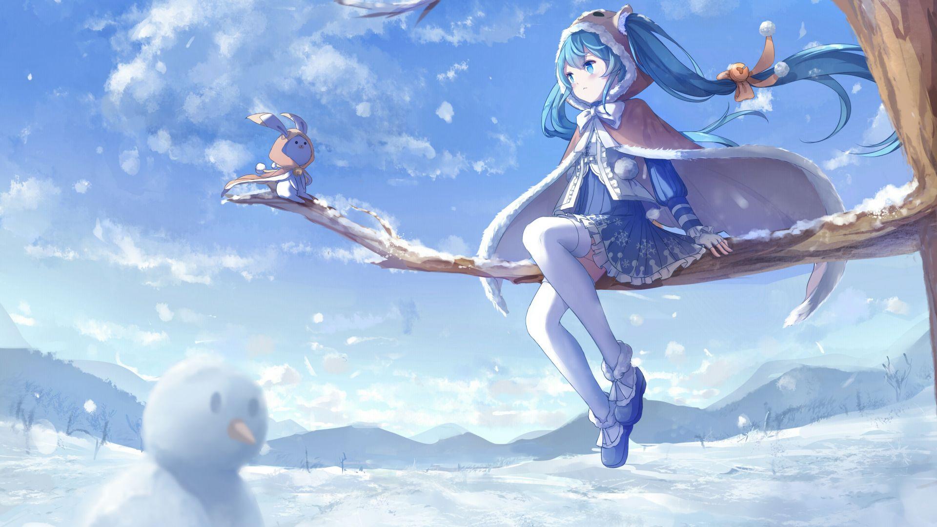 desktop wallpaper hatsune miku  outdoor  winter  hd image  picture  background  37acc1