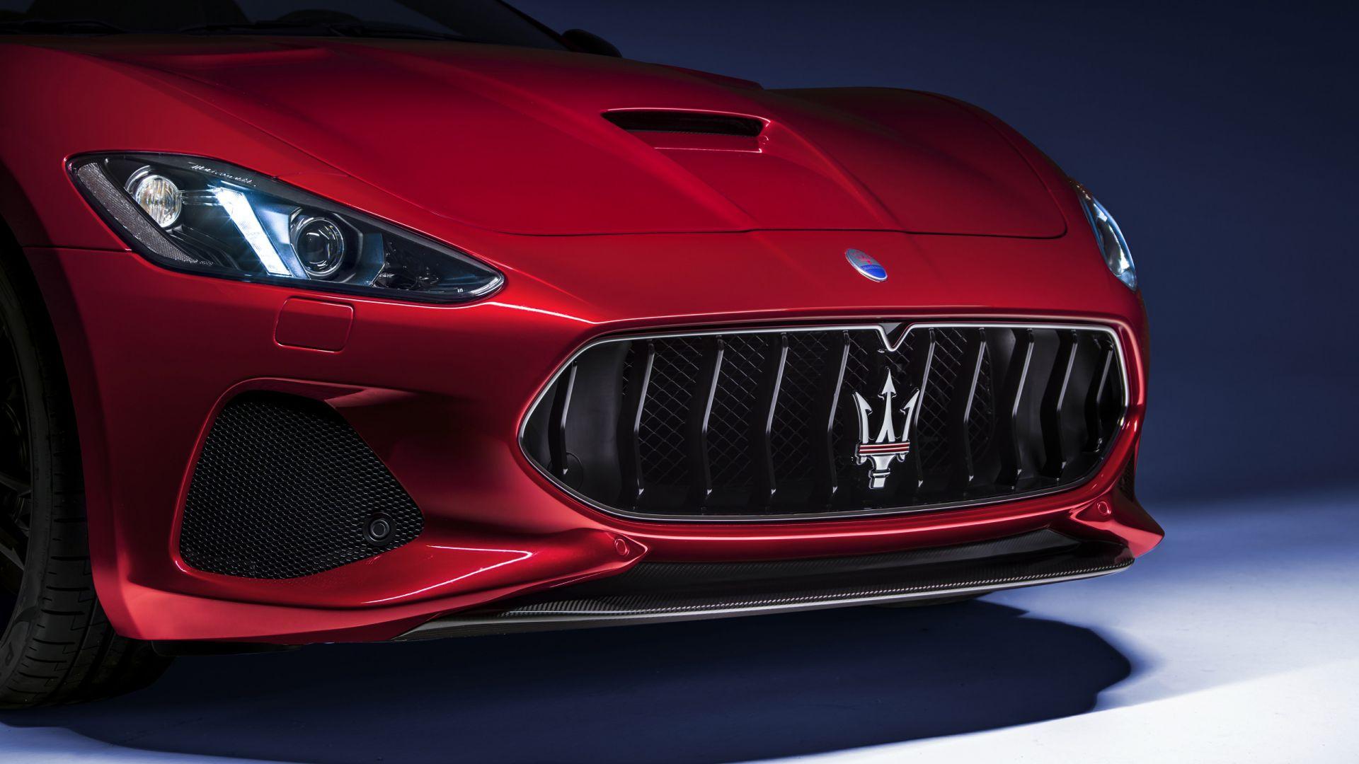 Wallpaper Maserati GranTurismo, 2018 car, bonnet, headlights